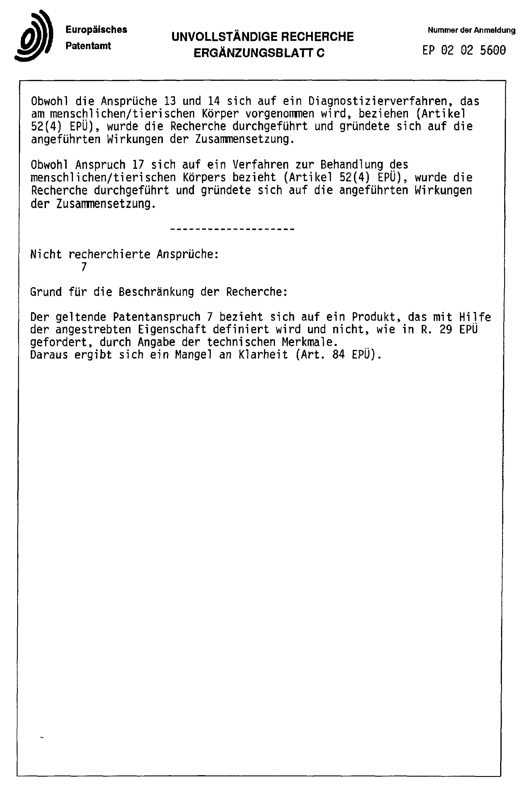 Patent EP1419787A1 - Lymphknoten-Kontrastmittel - Google Patents