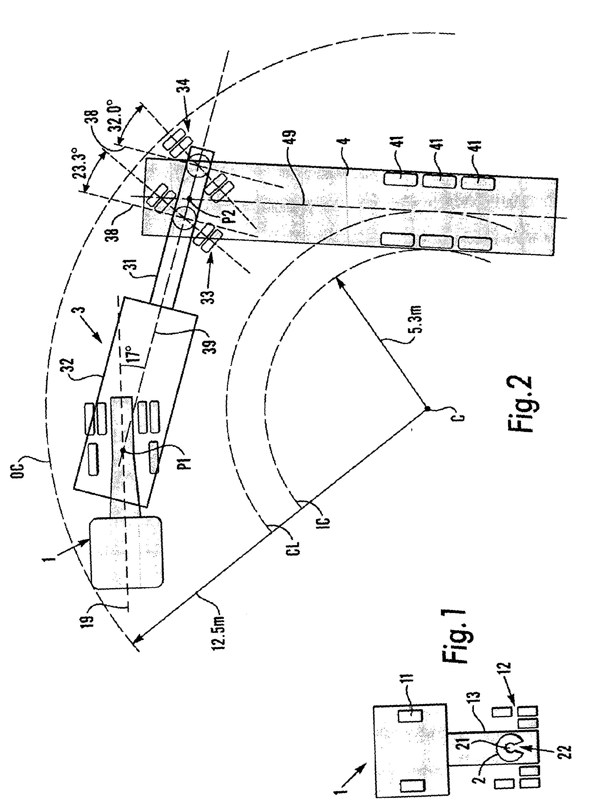 tractor trailer turning radius diagram