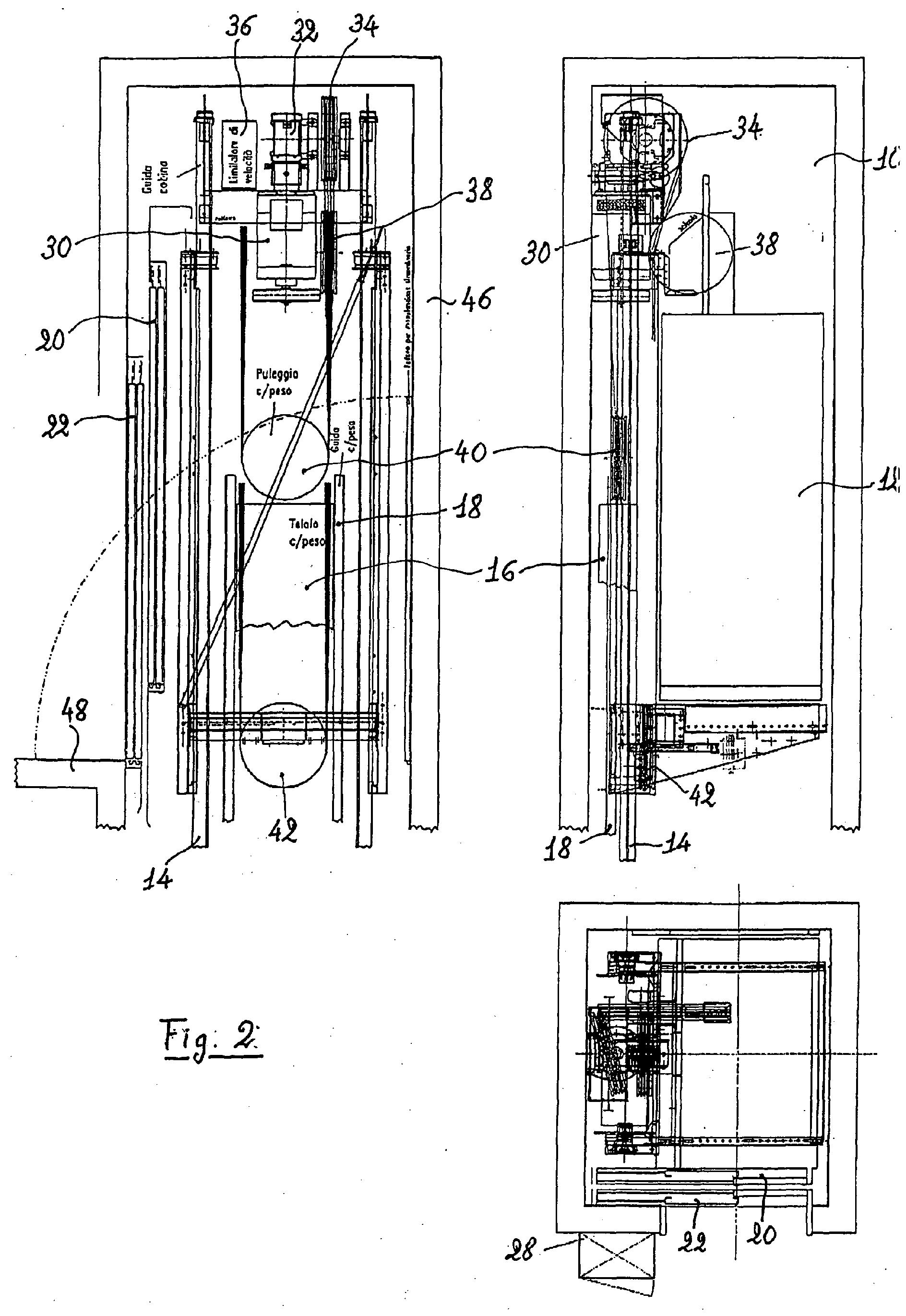 Patent Ep1422184a2 Machine Room Less Elevator Google
