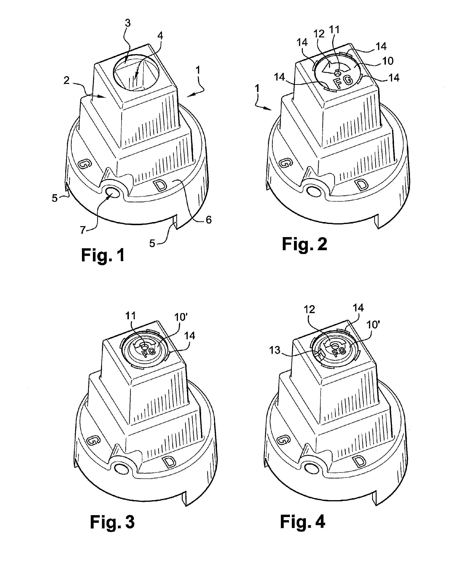 patent ep1439267a1 chapeau d 39 ordonnance pastille magn tisable pour organe de commande. Black Bedroom Furniture Sets. Home Design Ideas