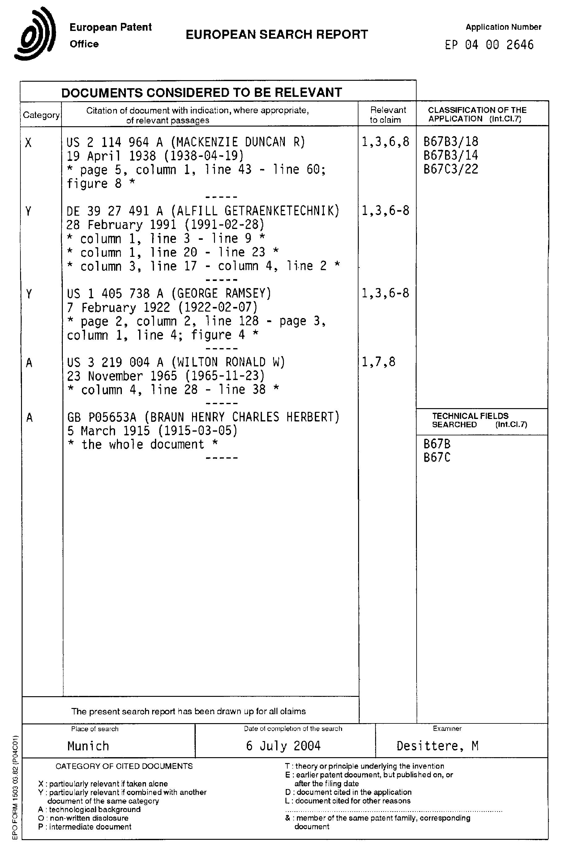 patent ep1462411a1 verschliesskopf f r das unter vakuum verschliessen von flaschen oder. Black Bedroom Furniture Sets. Home Design Ideas