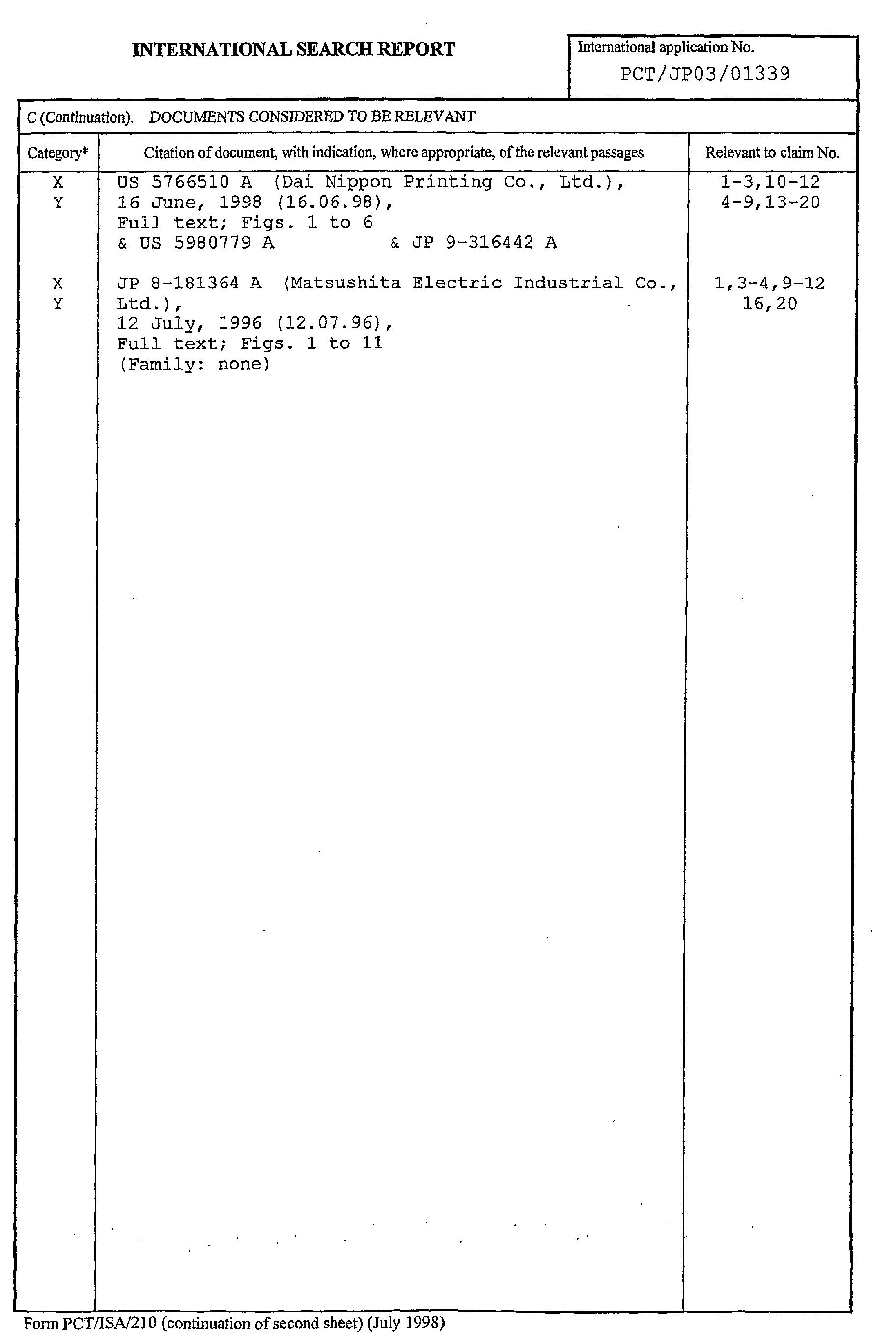 Patent EP1482561A1 - Structure de semiconducteur organique ...