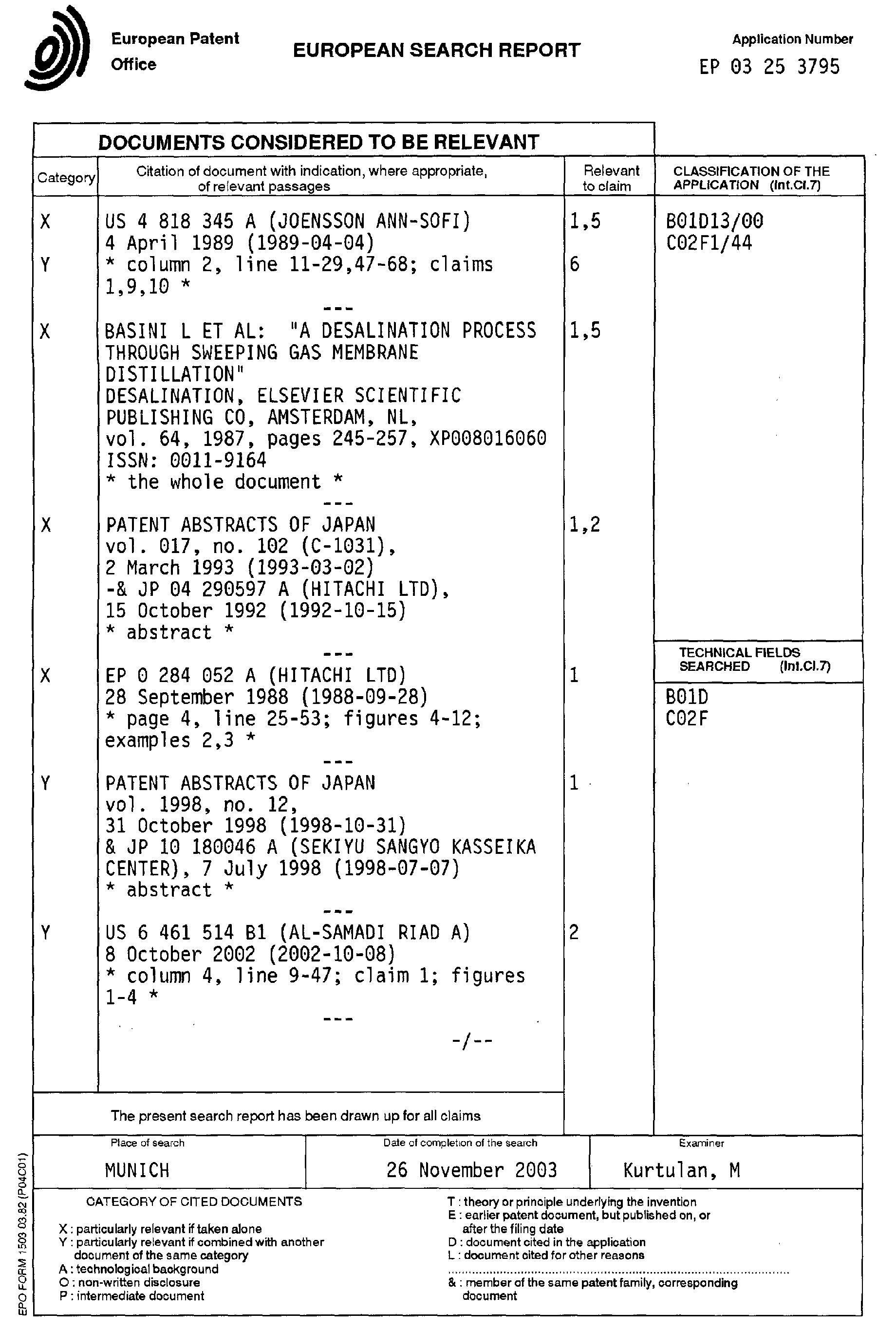 Patent EP A1 Improved membrane distillation method