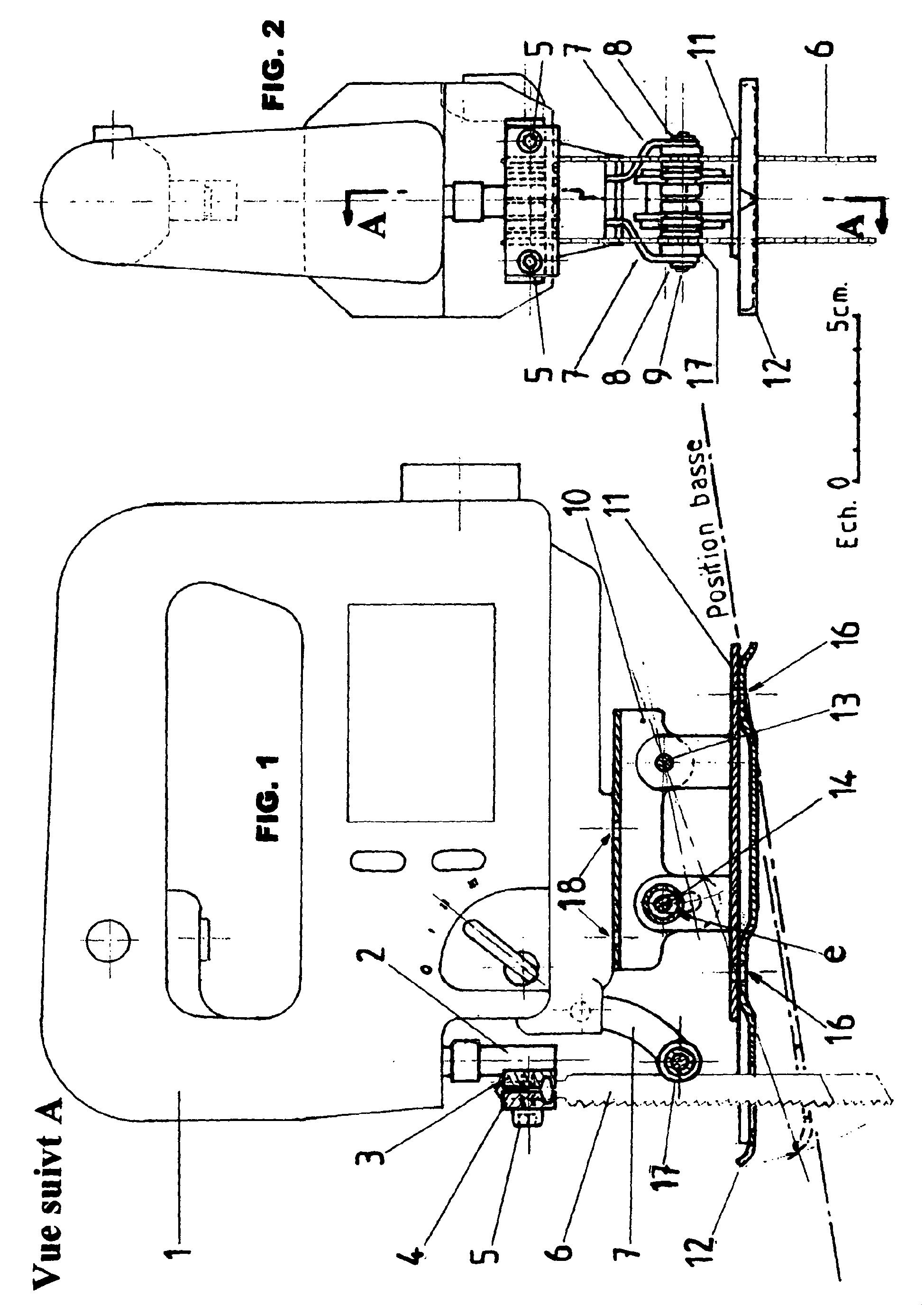 patent ep1588817b1 am nagement d 39 une scie sauteuse. Black Bedroom Furniture Sets. Home Design Ideas