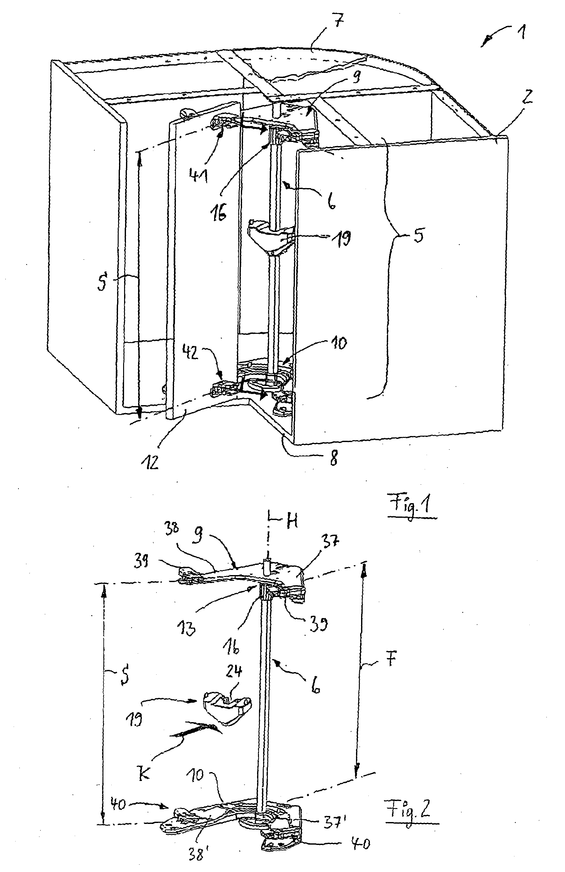 Patent EP1597985A1 - Eckschrank, insbesondere Kücheneckschrank ... | {Kücheneckschrank 6}
