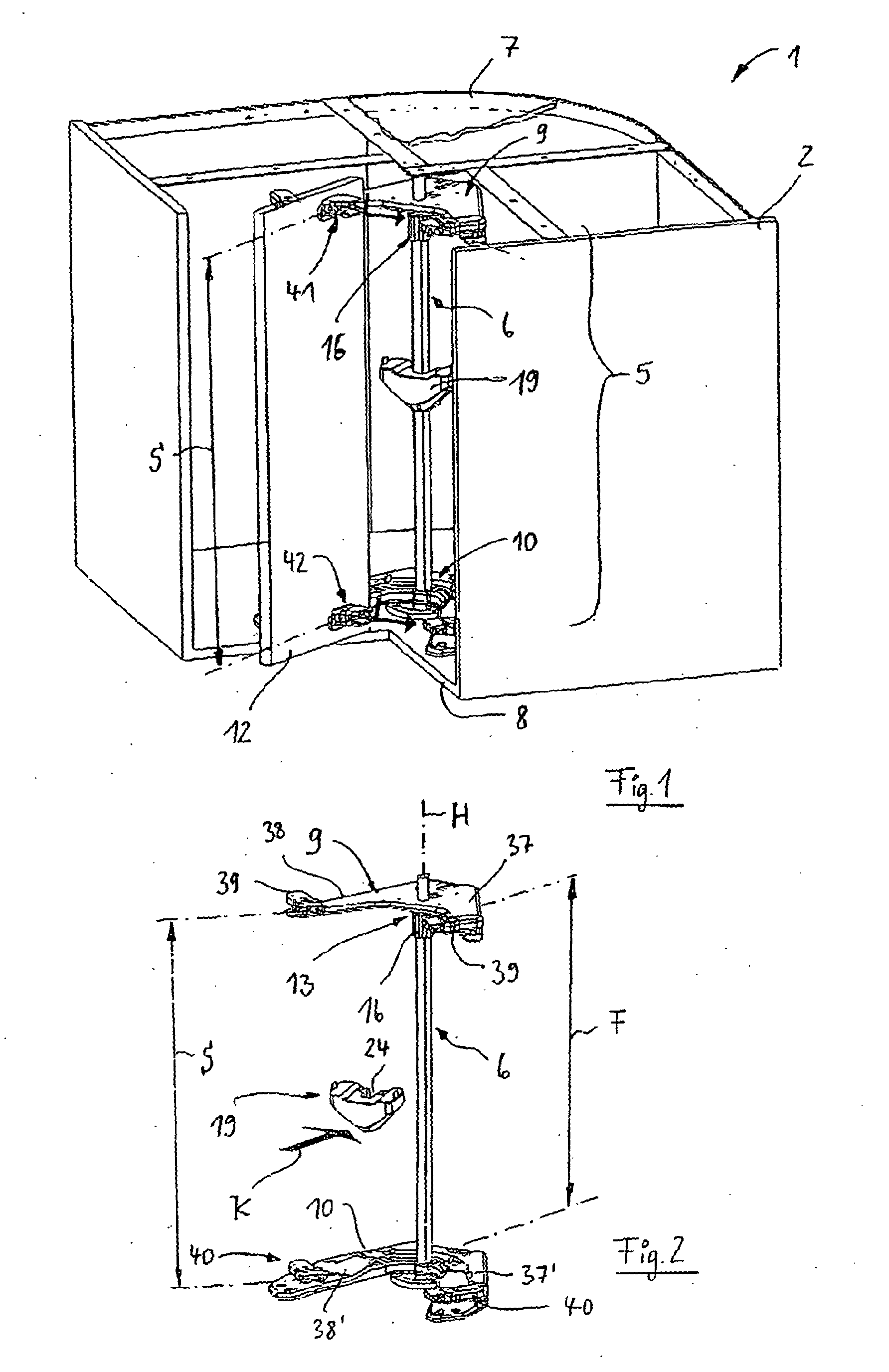 Patent EP B1 Eckschrank insbesondere