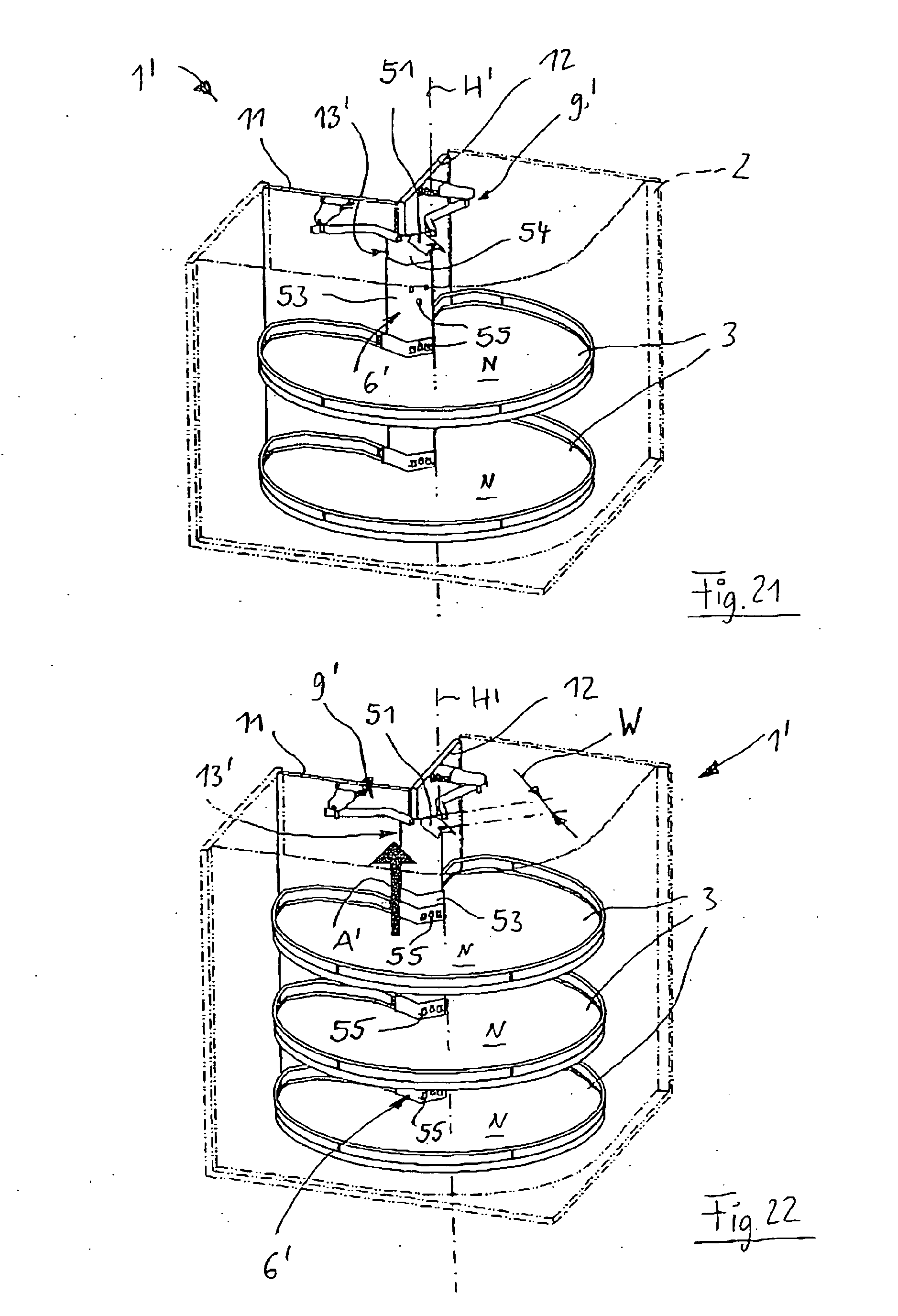 Patent EP1597985B1 - Eckschrank, insbesondere Kücheneckschrank ... | {Kücheneckschrank 17}