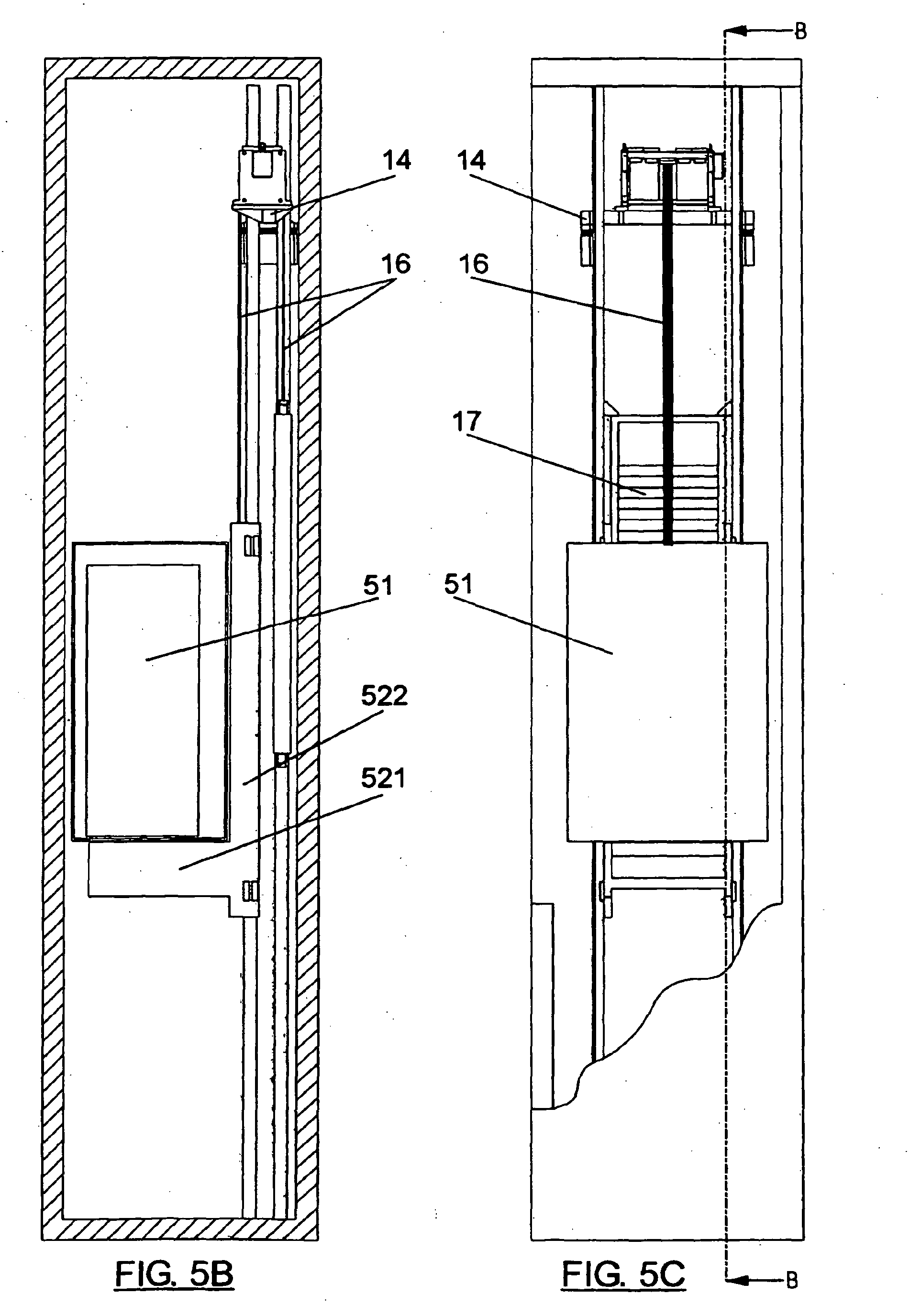 Patent ep1698581b1 machine lifting system and machine for Elevator plan drawing