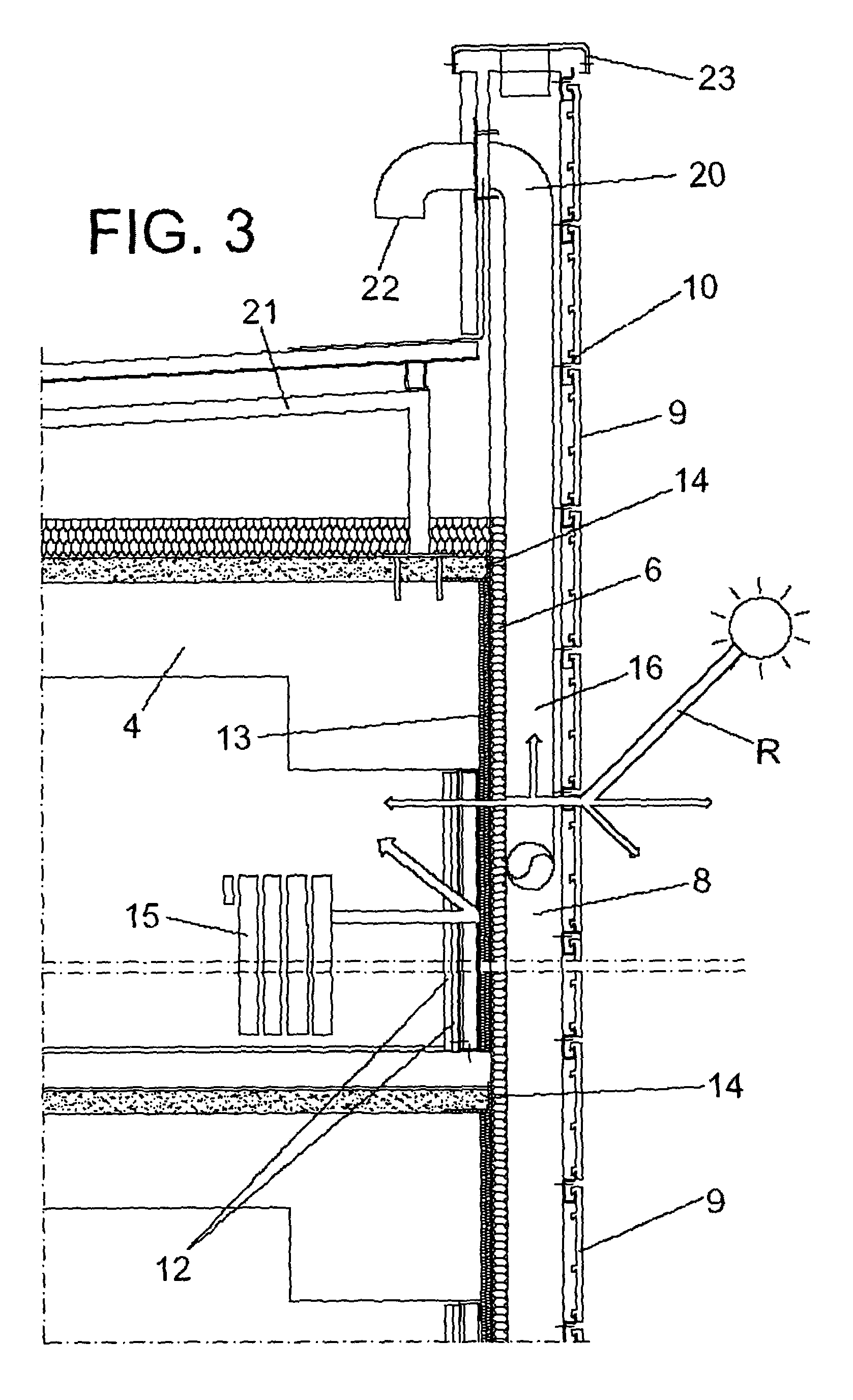 curtain wall section diagram