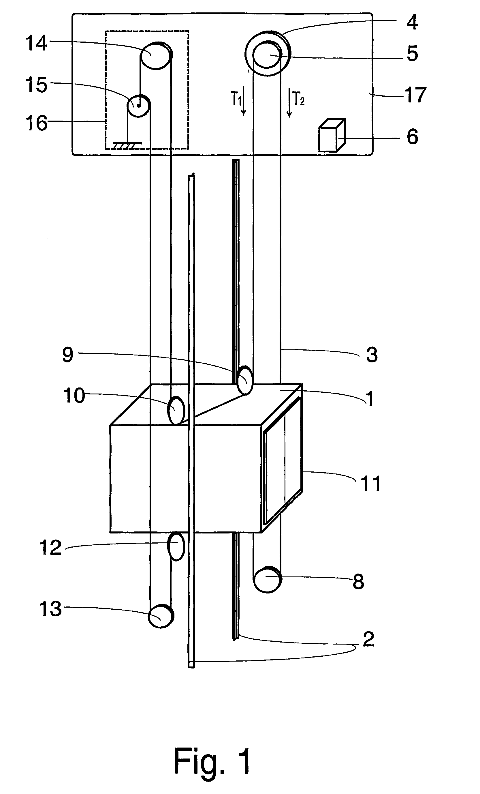 Rope And Pulley Elevator : Patent ep b elevator with rope tension