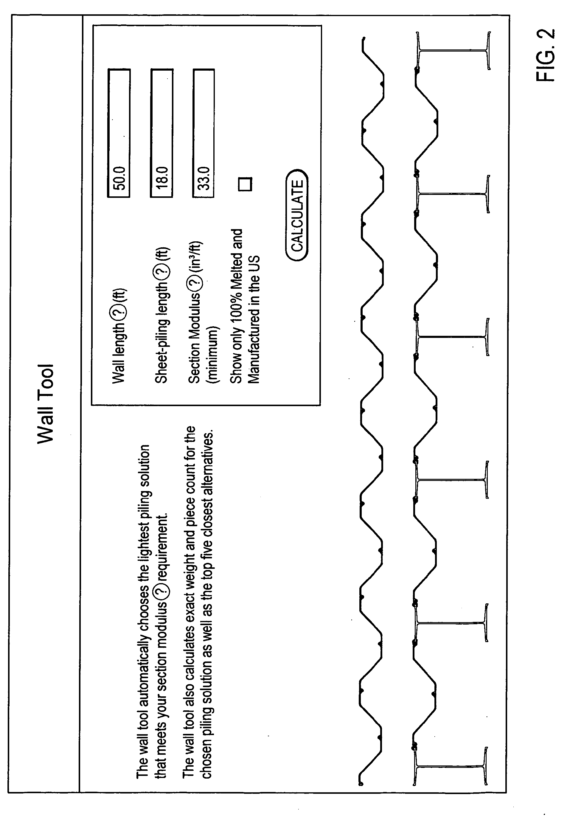 Patent Ep1830287a2 Method For Planning Sheet Pile Wall