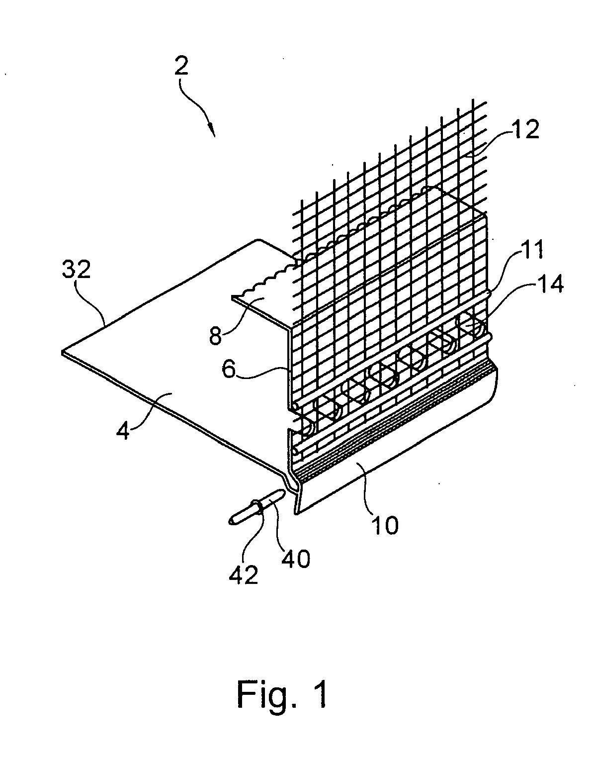 patent ep1857606a2 putzleiste zur anbringung am unteren ende einer geb ude w rmed mmung. Black Bedroom Furniture Sets. Home Design Ideas