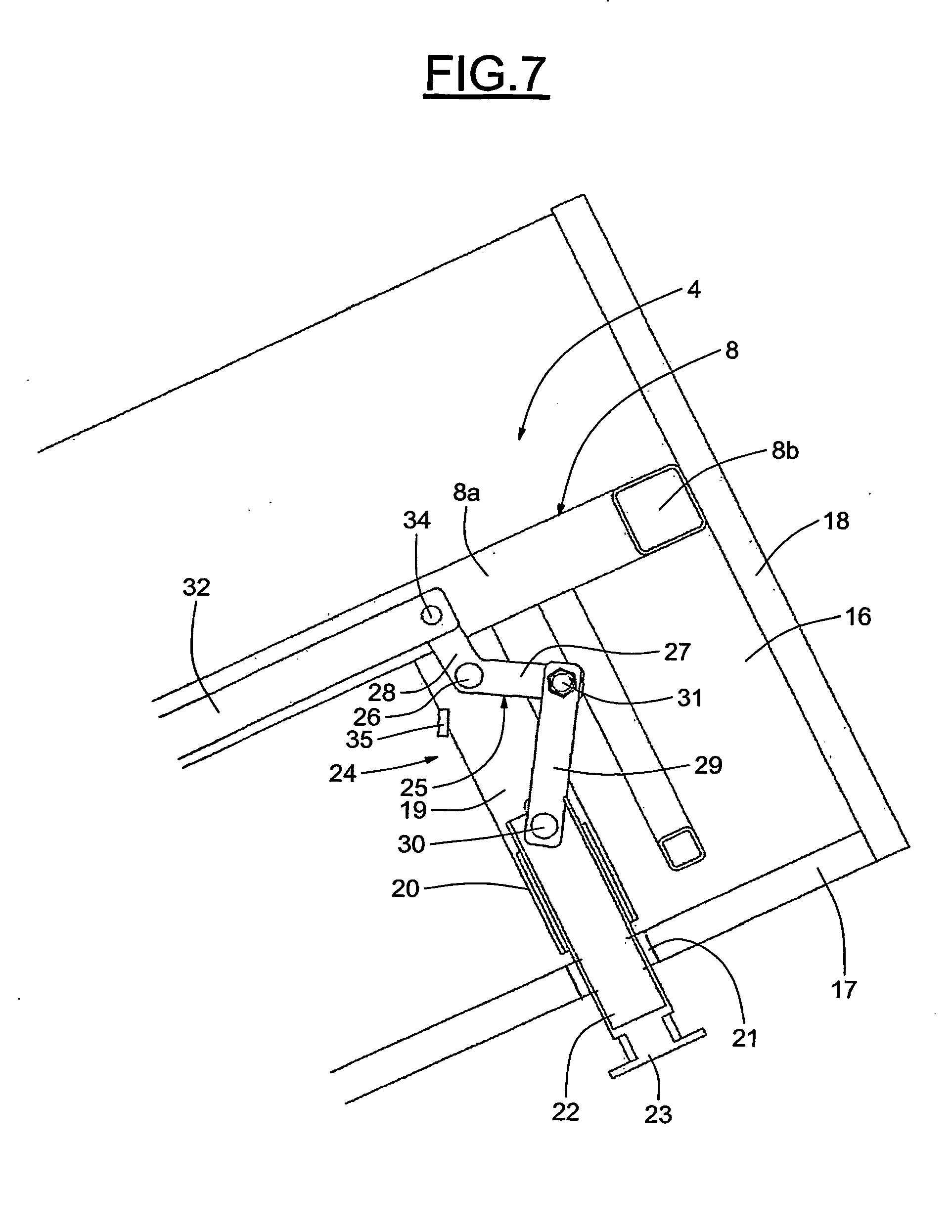 patent ep1871199b1 structure de meuble tel que lit escamotable pieds escamotables google. Black Bedroom Furniture Sets. Home Design Ideas