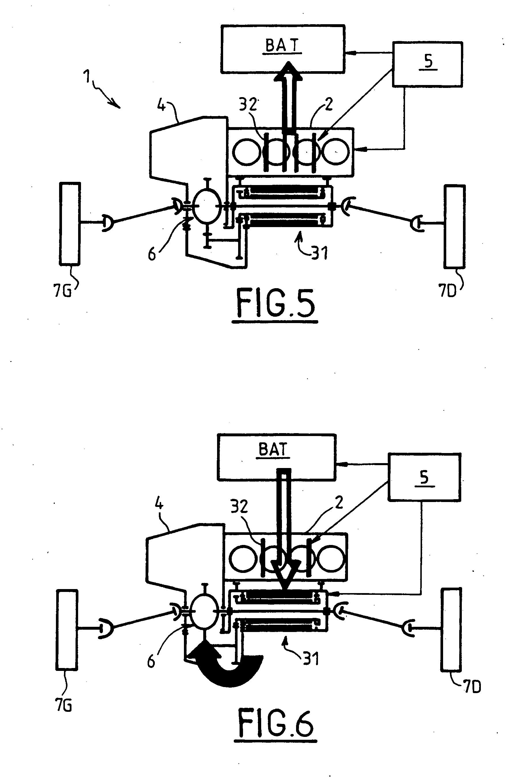patent ep1960223b1 chaine de traction hybride et vehicule hybride equipe d 39 une telle chaine de. Black Bedroom Furniture Sets. Home Design Ideas