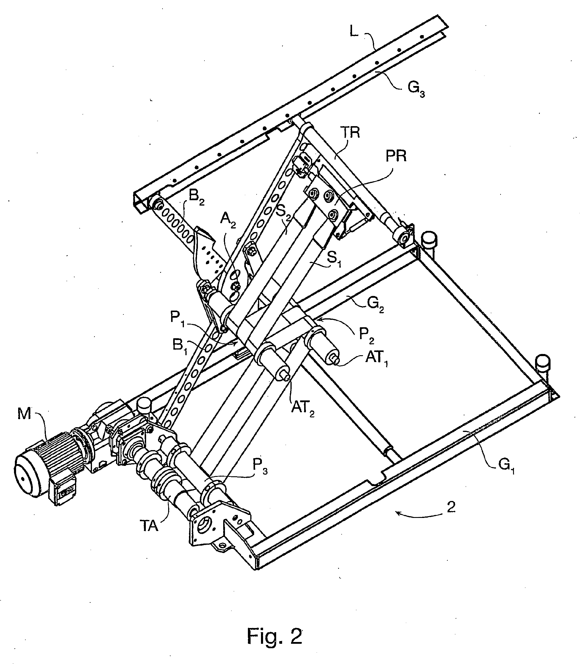 Patent ep1981801b1 table elevatrice a pietements for Table elevatrice