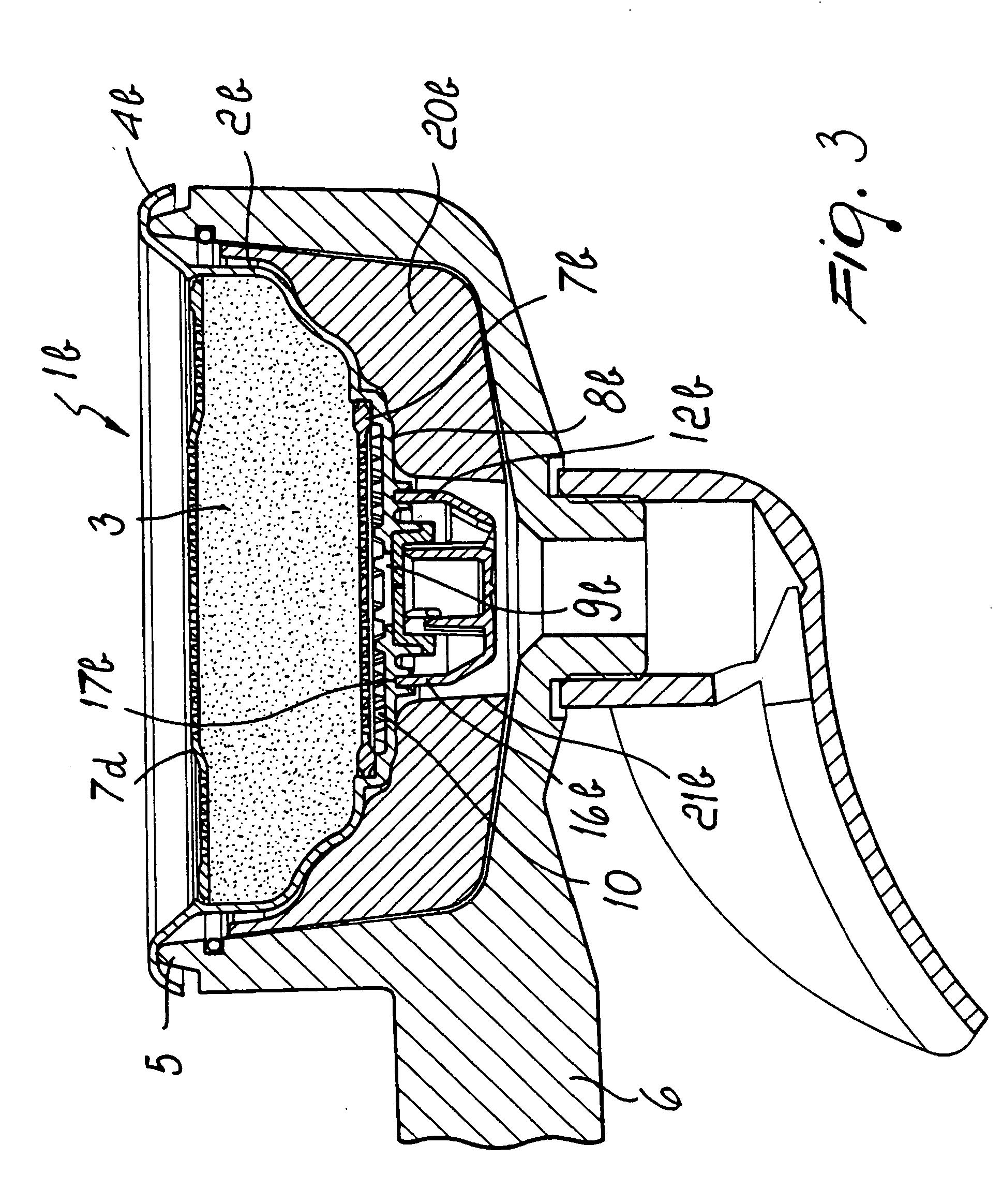 patent ep2091392b1 einsatz f r filterhalter f r kaffeemaschinen besonders f r espresso. Black Bedroom Furniture Sets. Home Design Ideas