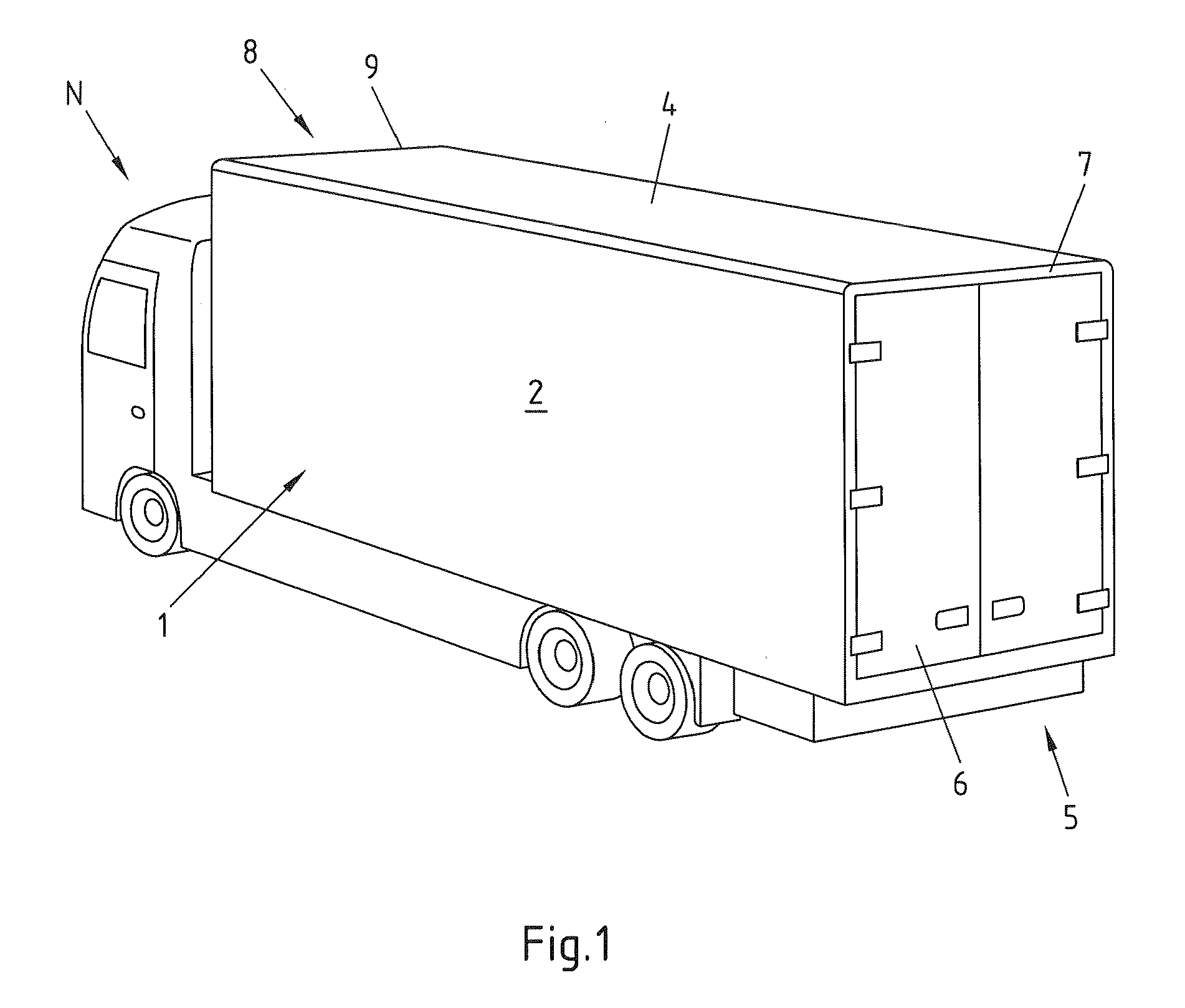 Patent EP2103504A1 - Load compartment of a commercial vehicle with ...