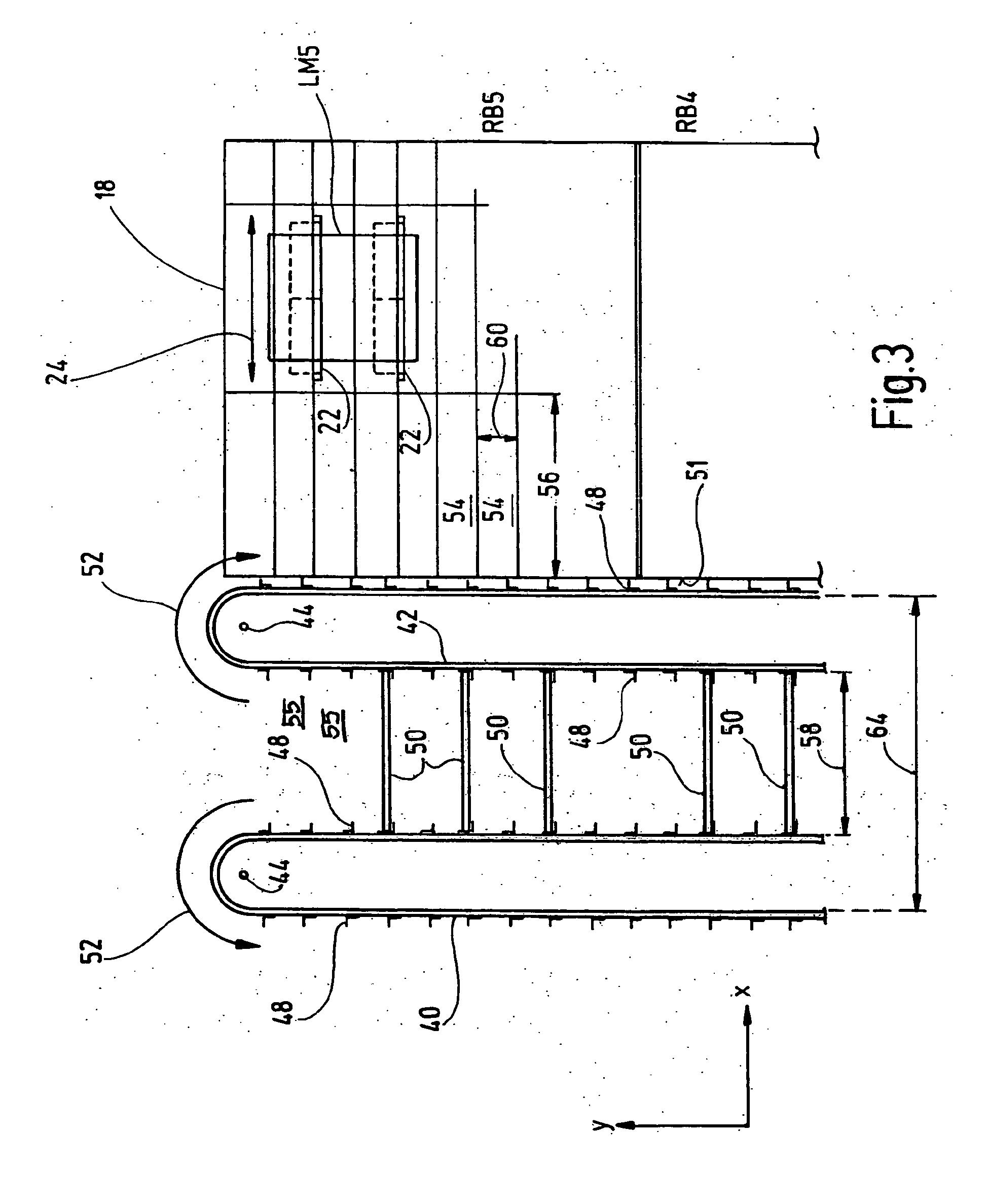 patent ep2132113b1 vertikallift und verfahren zum betreiben eines regals mit vertikallift. Black Bedroom Furniture Sets. Home Design Ideas