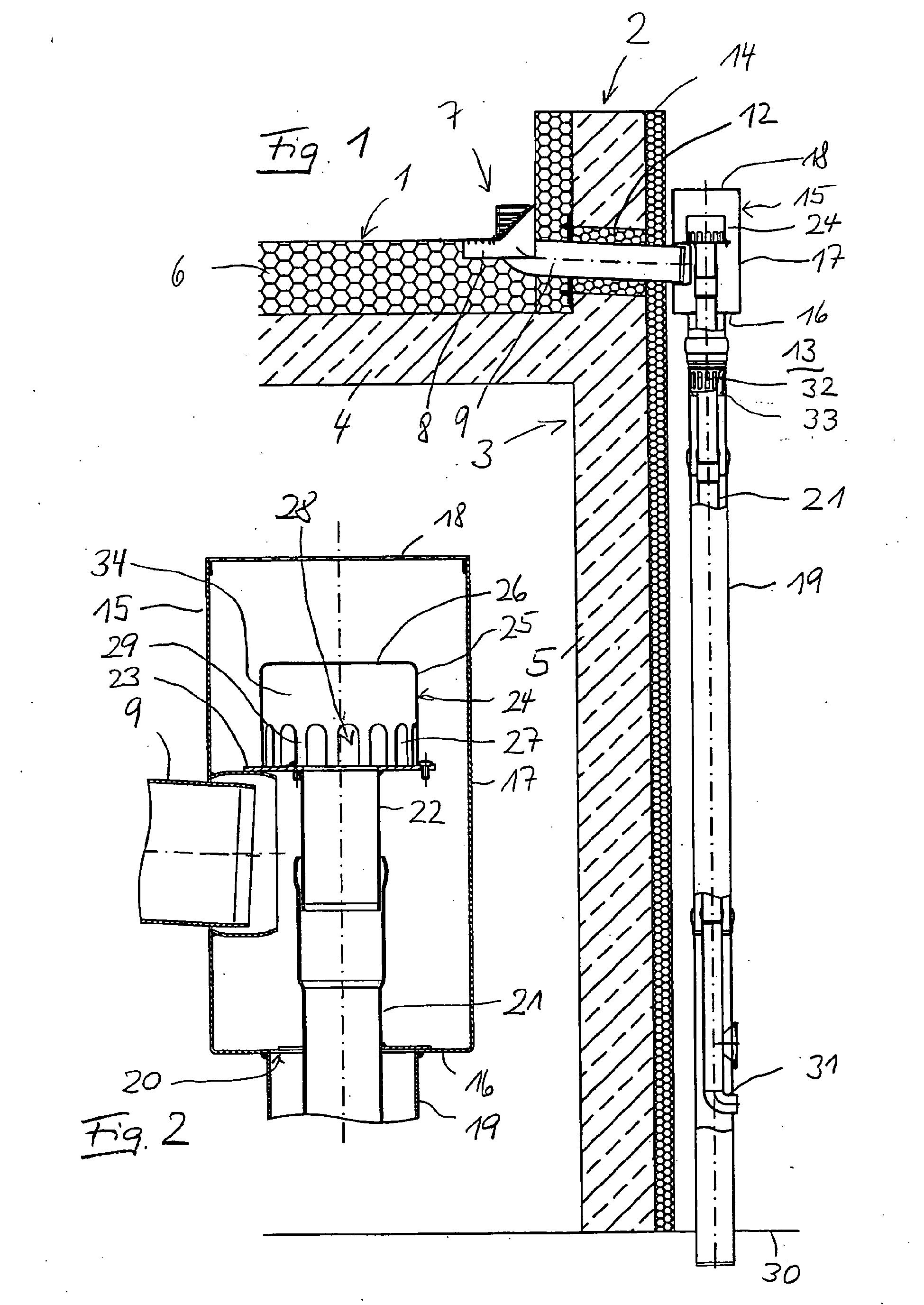 Fallrohr flachdach  Patent EP2146020B1 - Ablaufeinrichtung mit einer durch einen ...