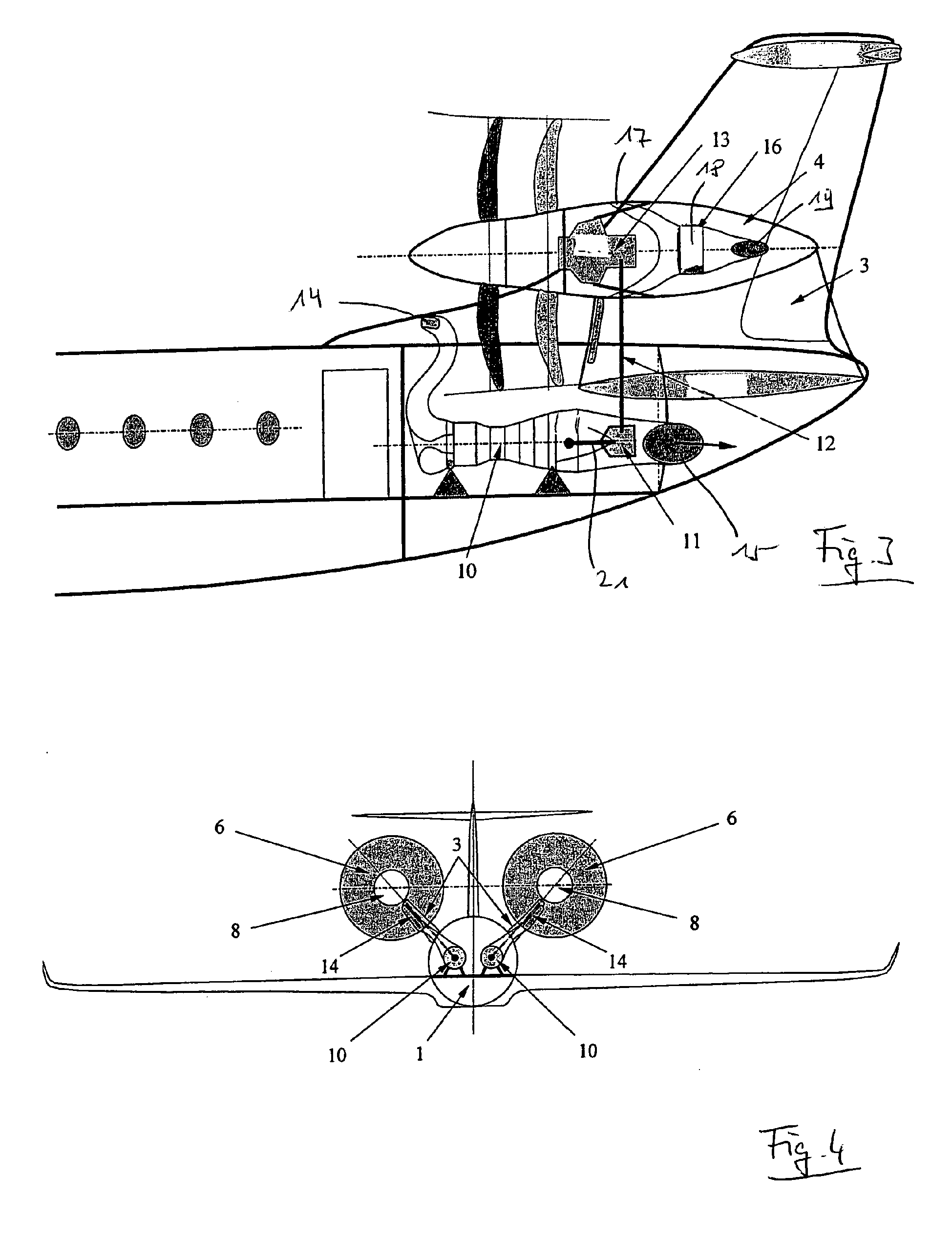 Patent Ep2202152a2 Airplane With A Rear Propeller Engine