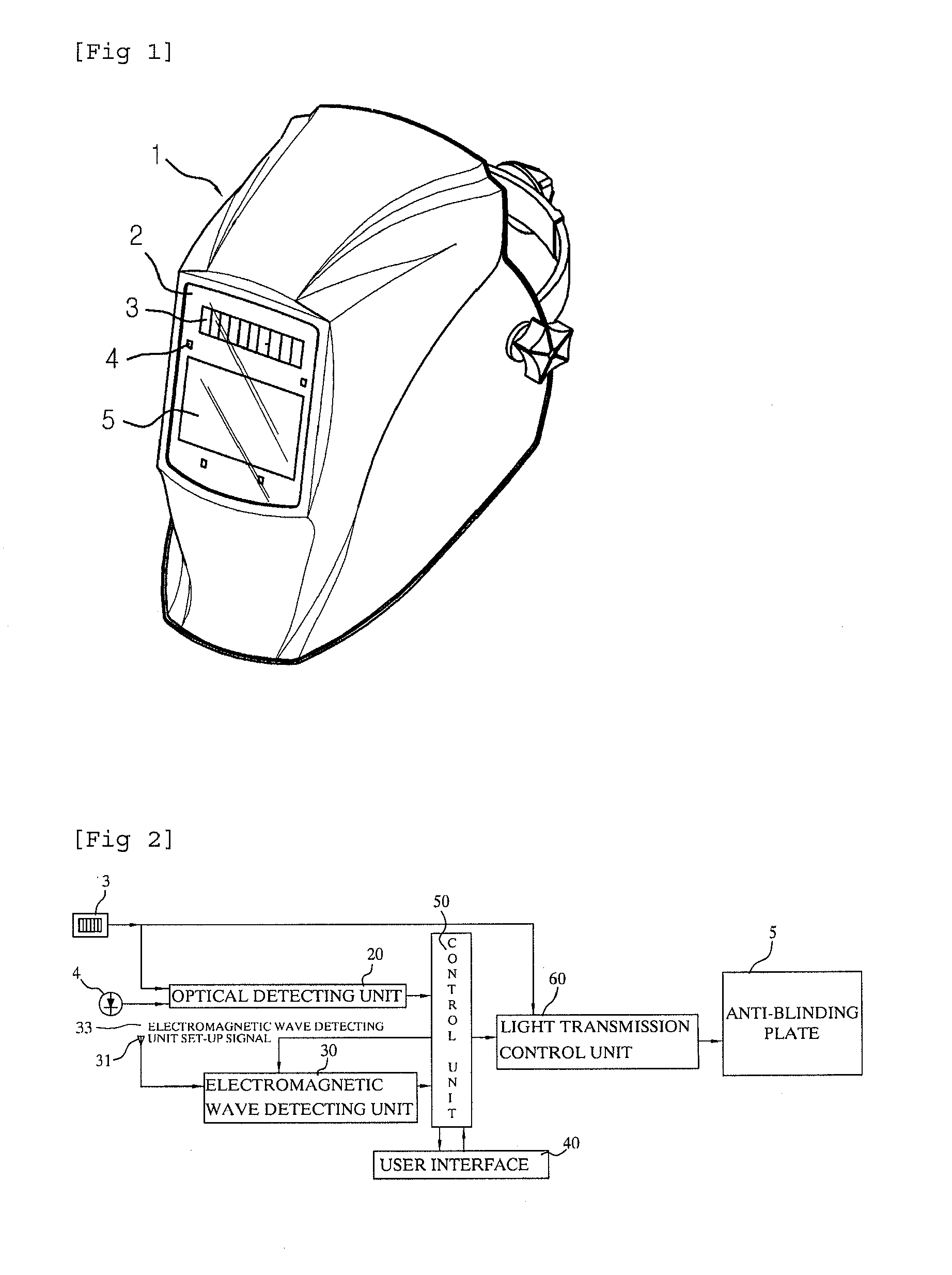 patent epa  welding helmet including antiblinding device, wiring diagram