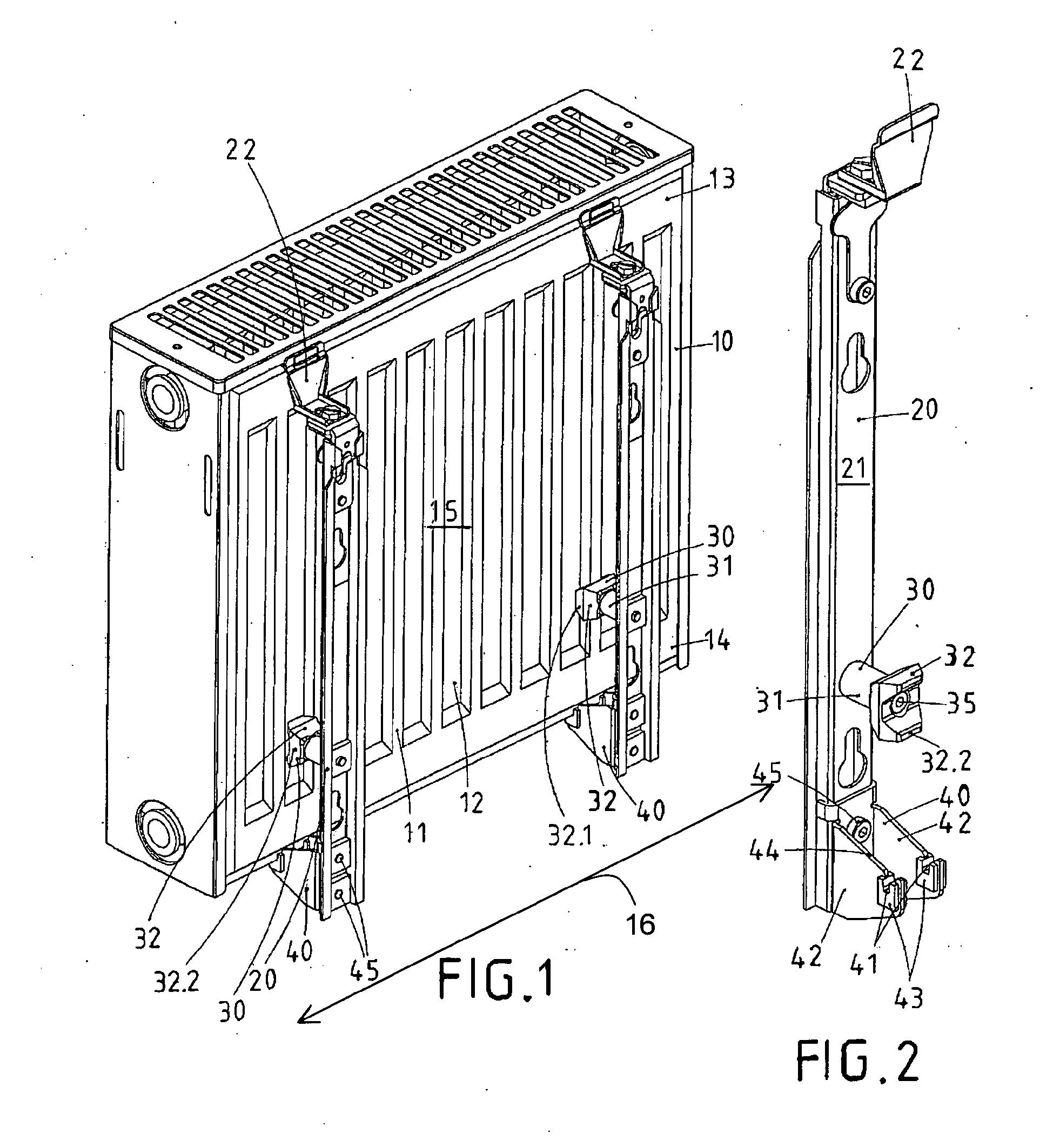 patent ep2333433a2 halterung f r einen plattenheizk rper und halterungssystem google patents. Black Bedroom Furniture Sets. Home Design Ideas
