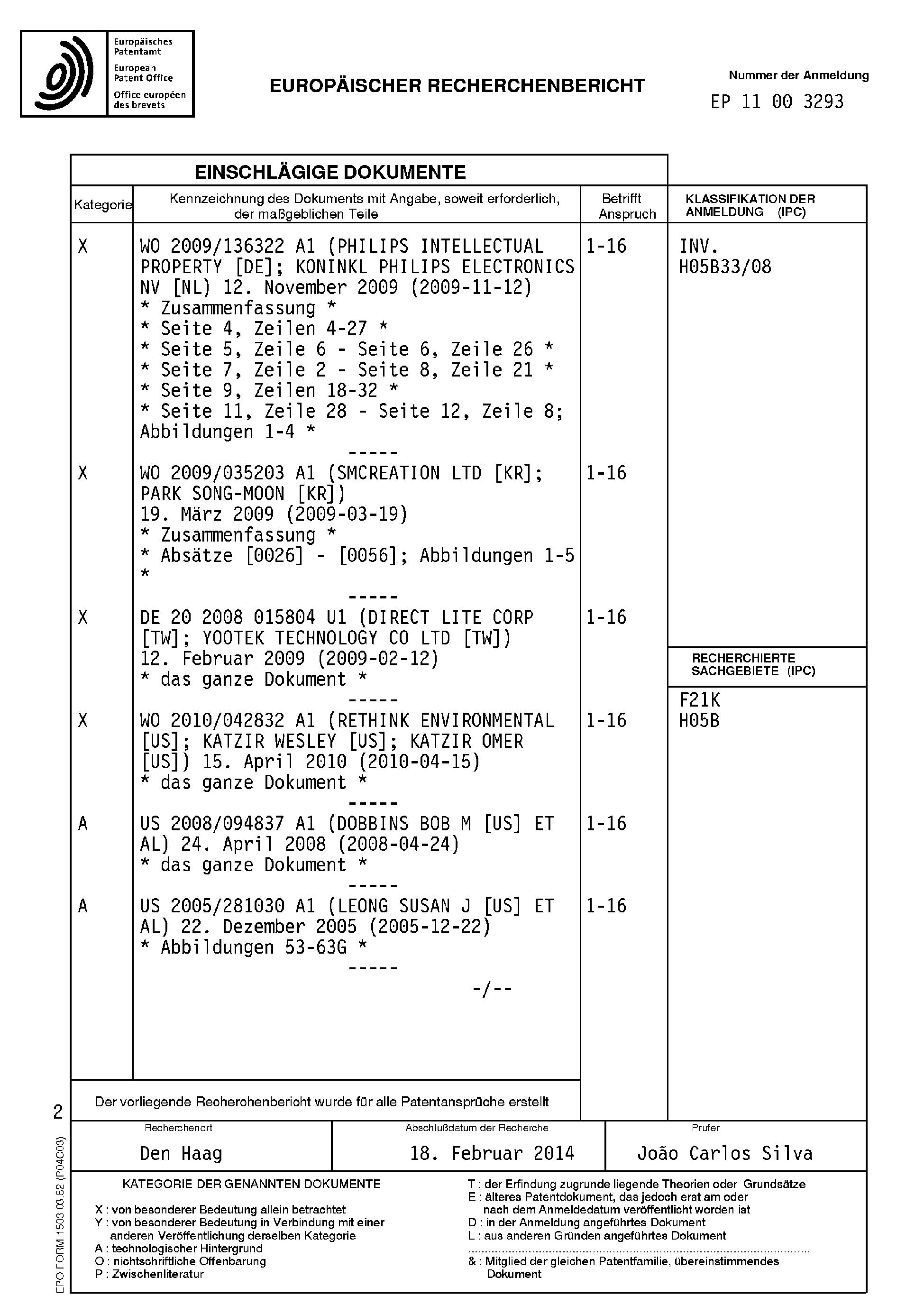 Patent EP2378839A3 - LED-Lampe und Leuchte - Google Patents