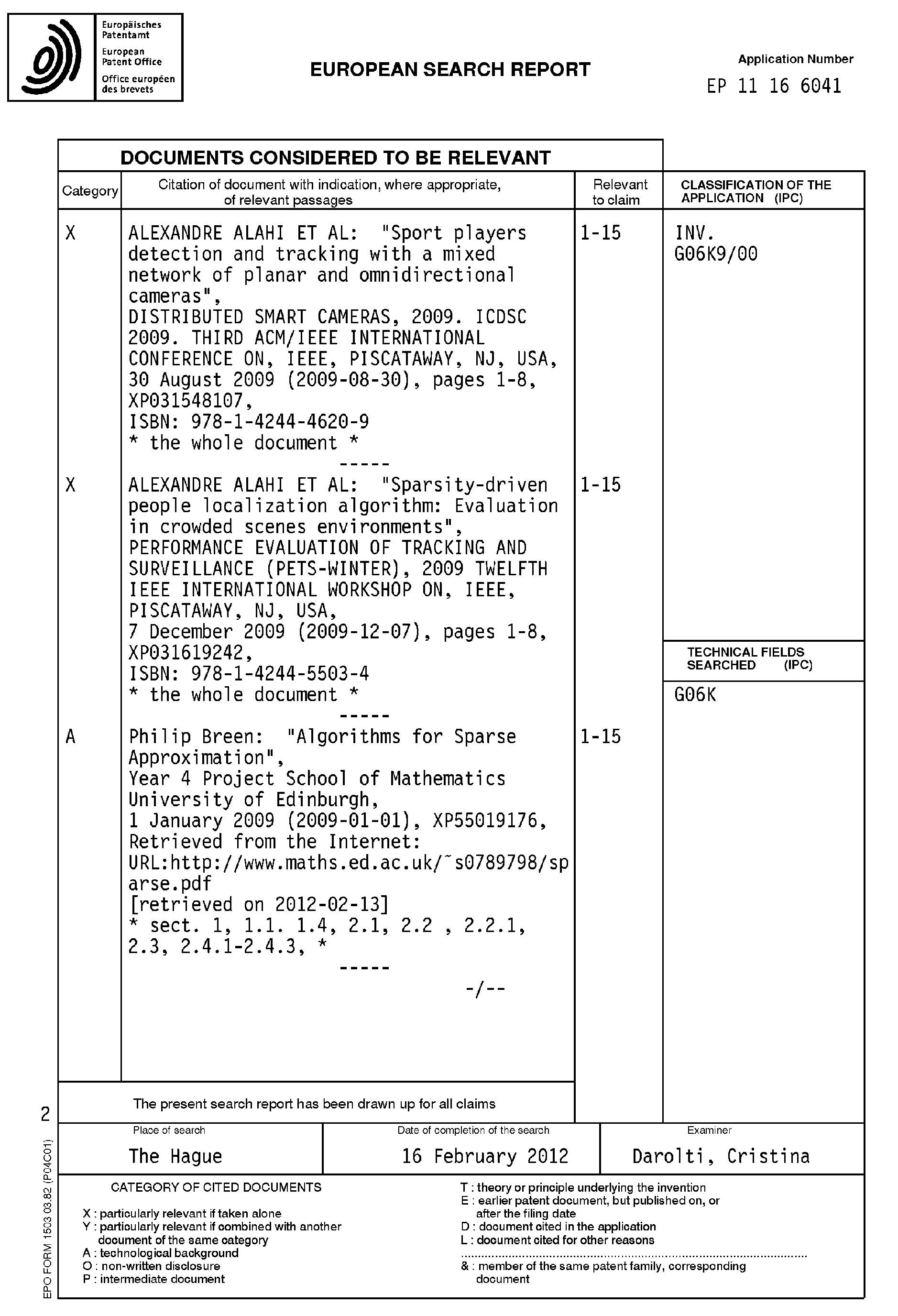 Patent EP2386981A3 - Method and system for automatic objects ...
