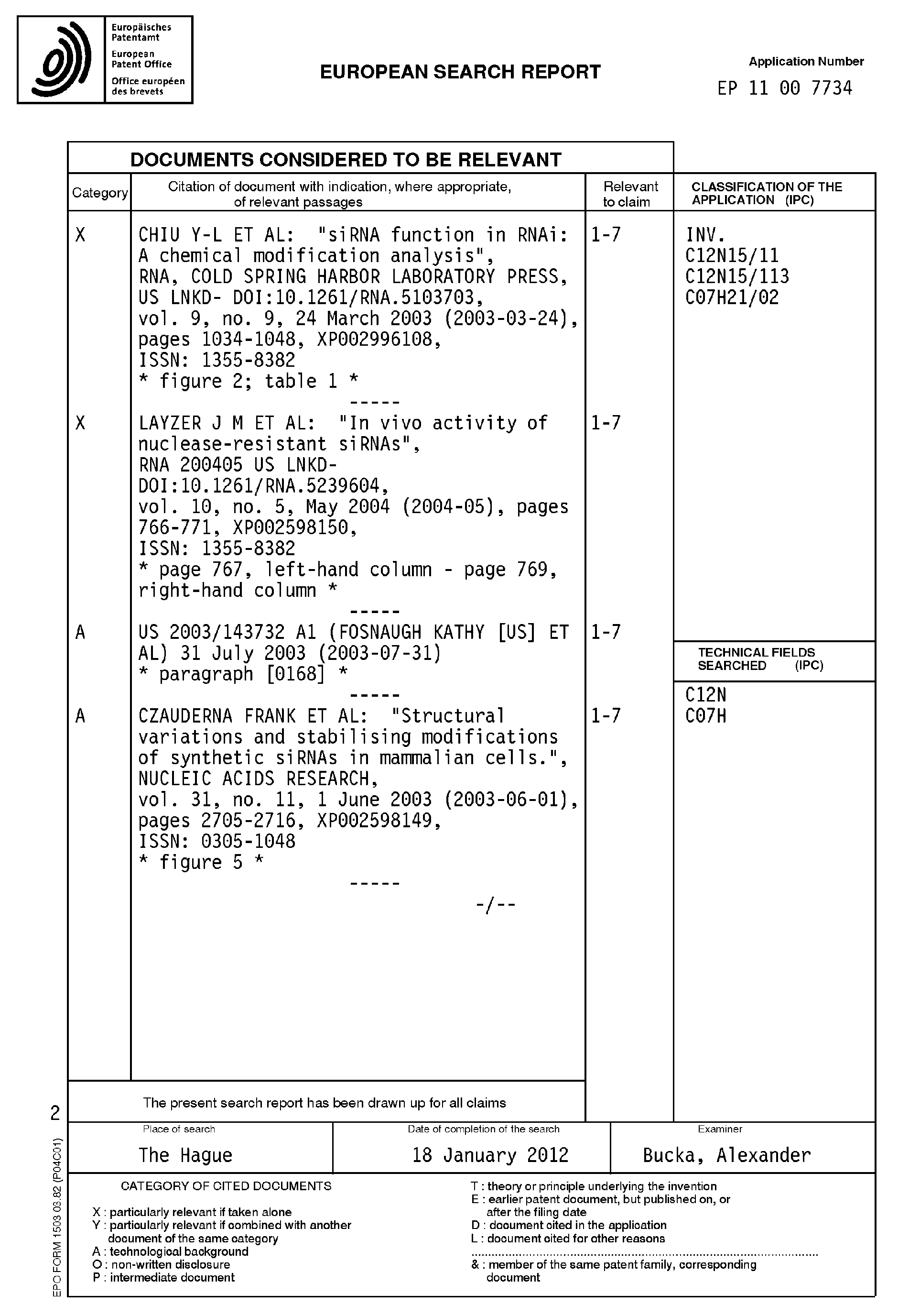 Patent Ep2399924a3 Nuclease Resistant Double Stranded