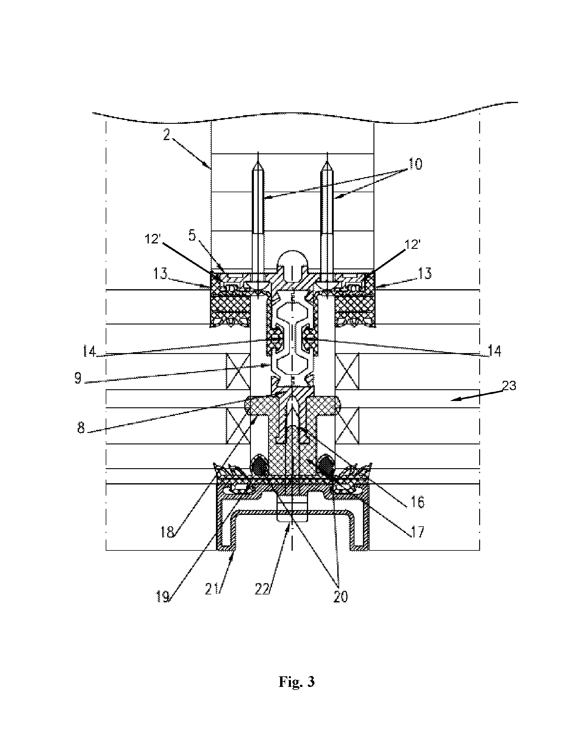 Attachment Structure For Curtain Wall