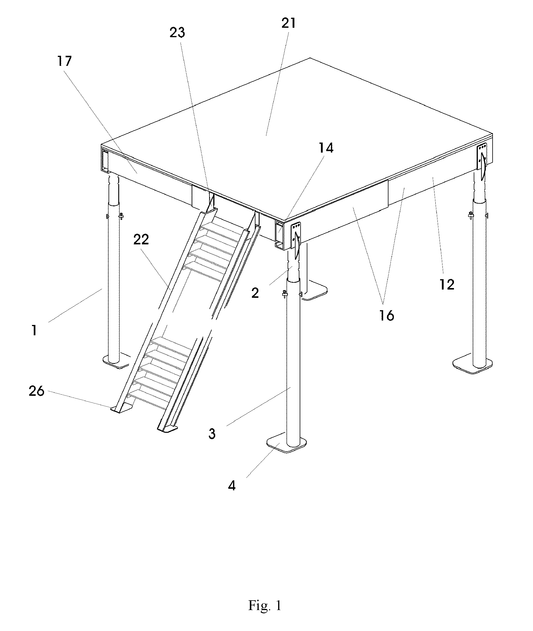 Patent Ep2434073a1 Adjustable Mezzanine Floor Google