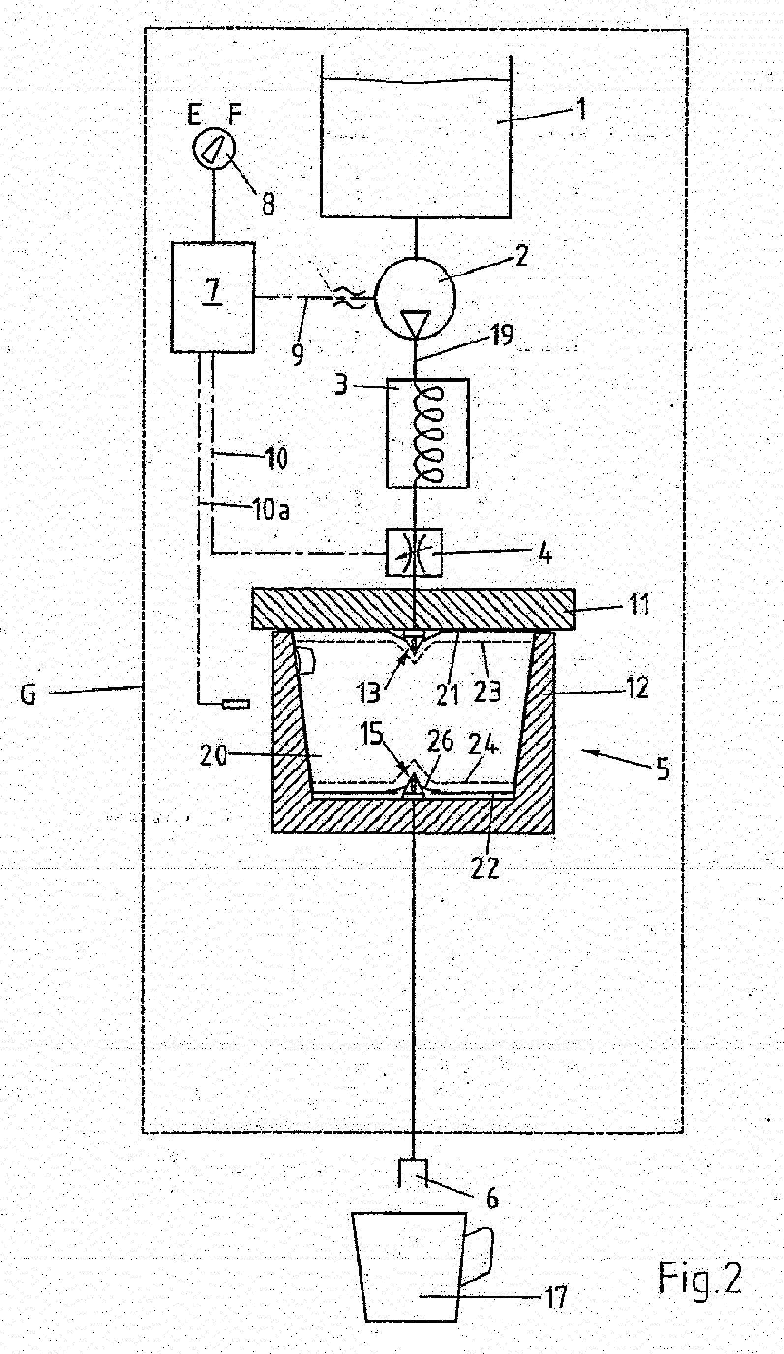 patent ep2446791a2 kaffeemaschine zum aufbr hen von in einer kapsel abgepacktem pulverkaffee. Black Bedroom Furniture Sets. Home Design Ideas