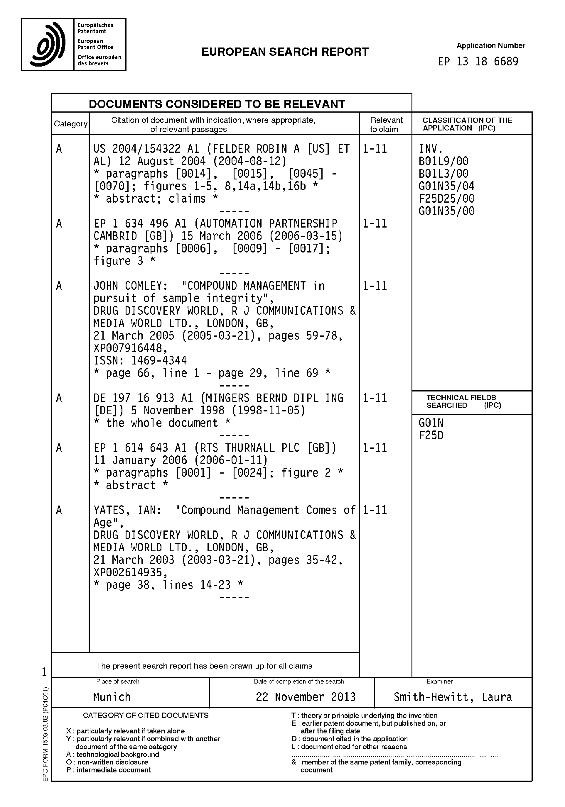 Patent EP2682189A1 - Système de stockage, récupération et