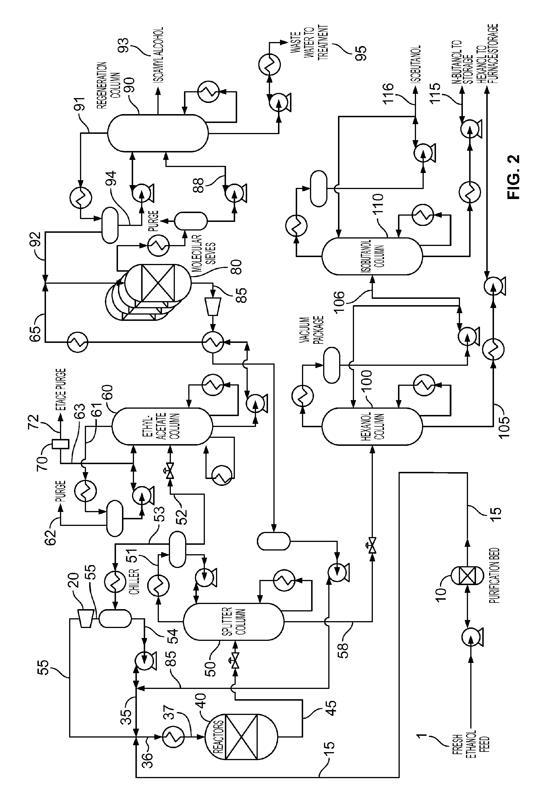 Patent Ep2889281a1 Process For The Preparation Of N Butanol From Flow Diagram Reactor Drawing