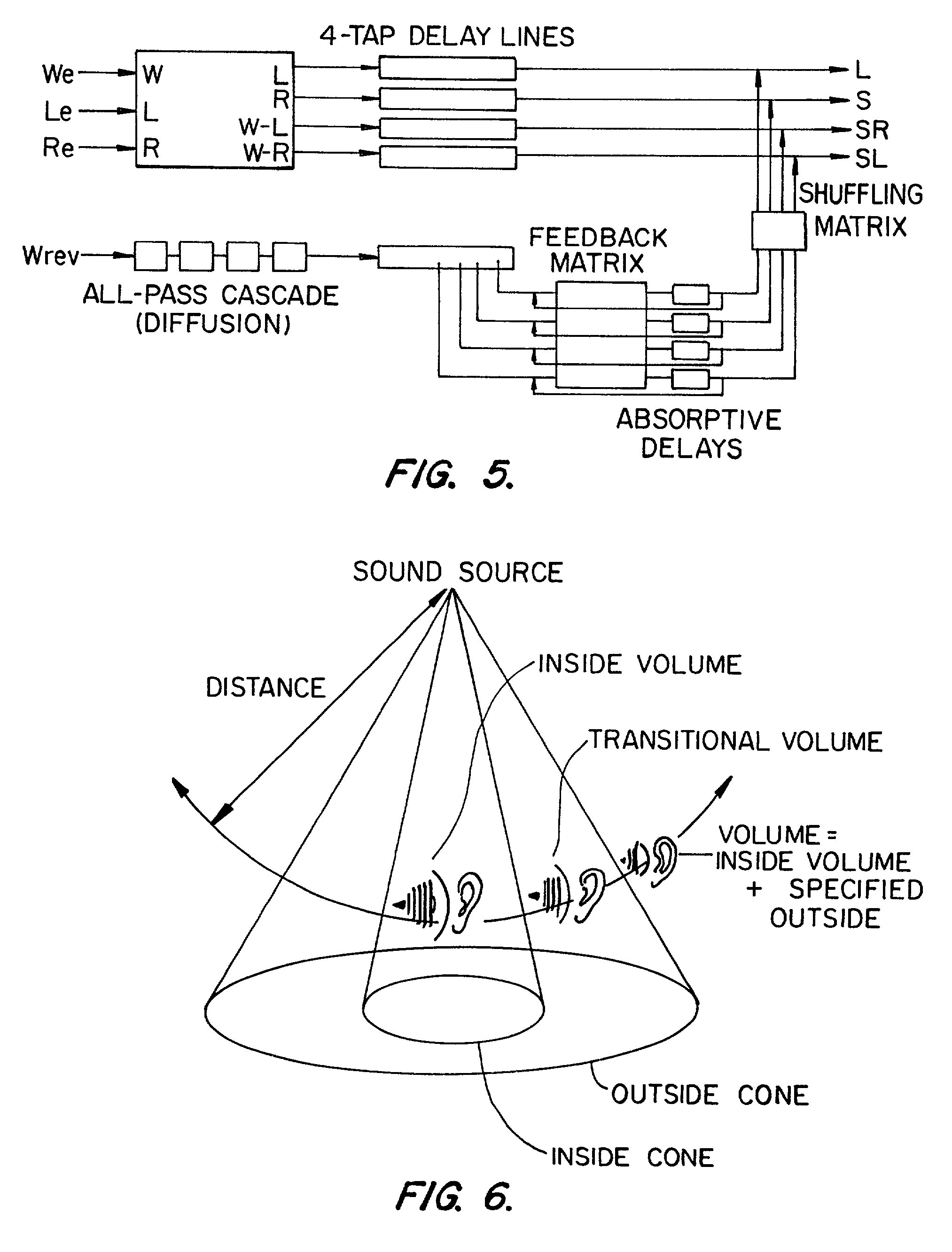 patent us20010024504 environmental reverberation processor Reverb for Audacity Effect patent drawing