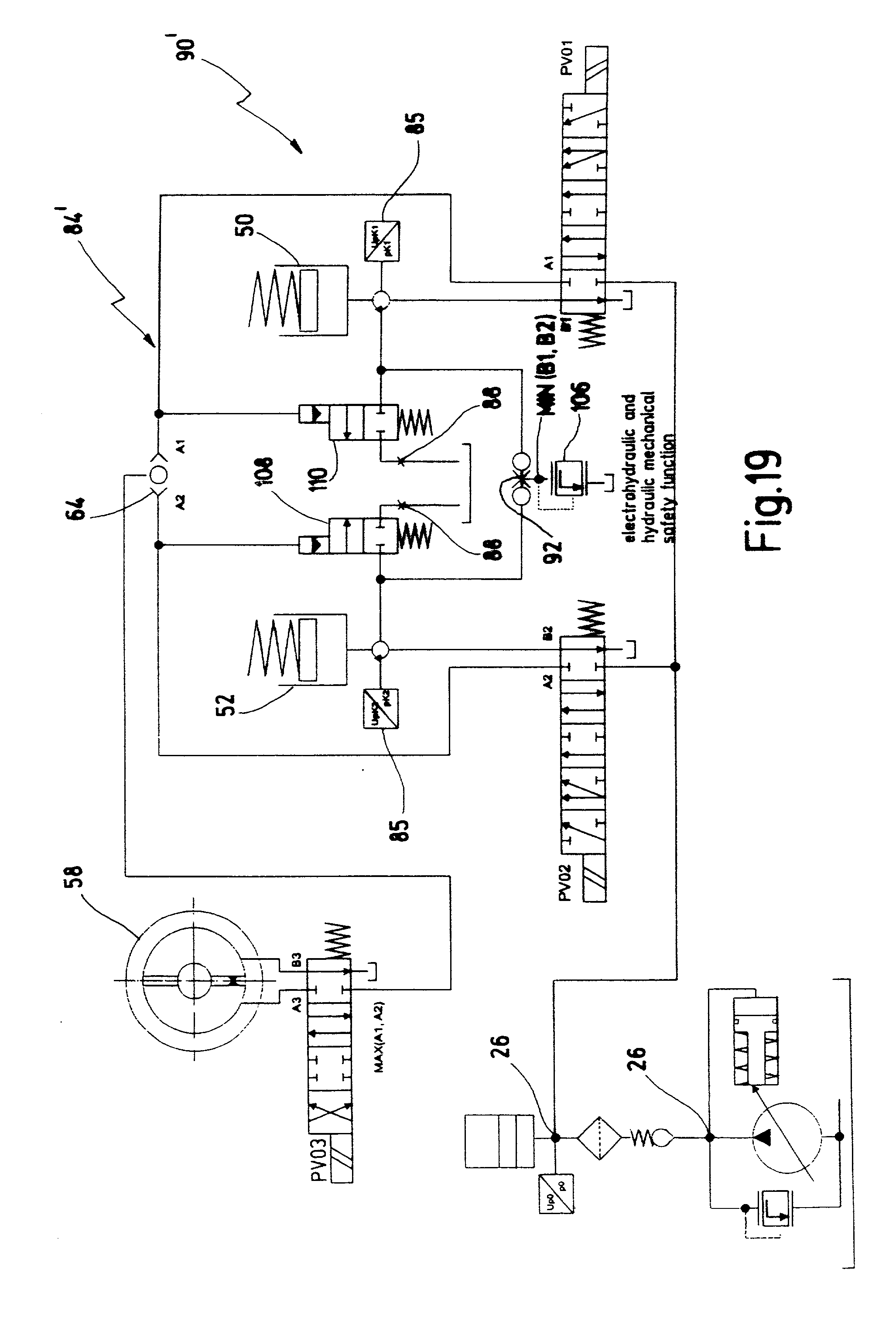 patent us20020002878 hydraulic circuit for an automated 4 ram steering gear system working skid steer loader electrical system