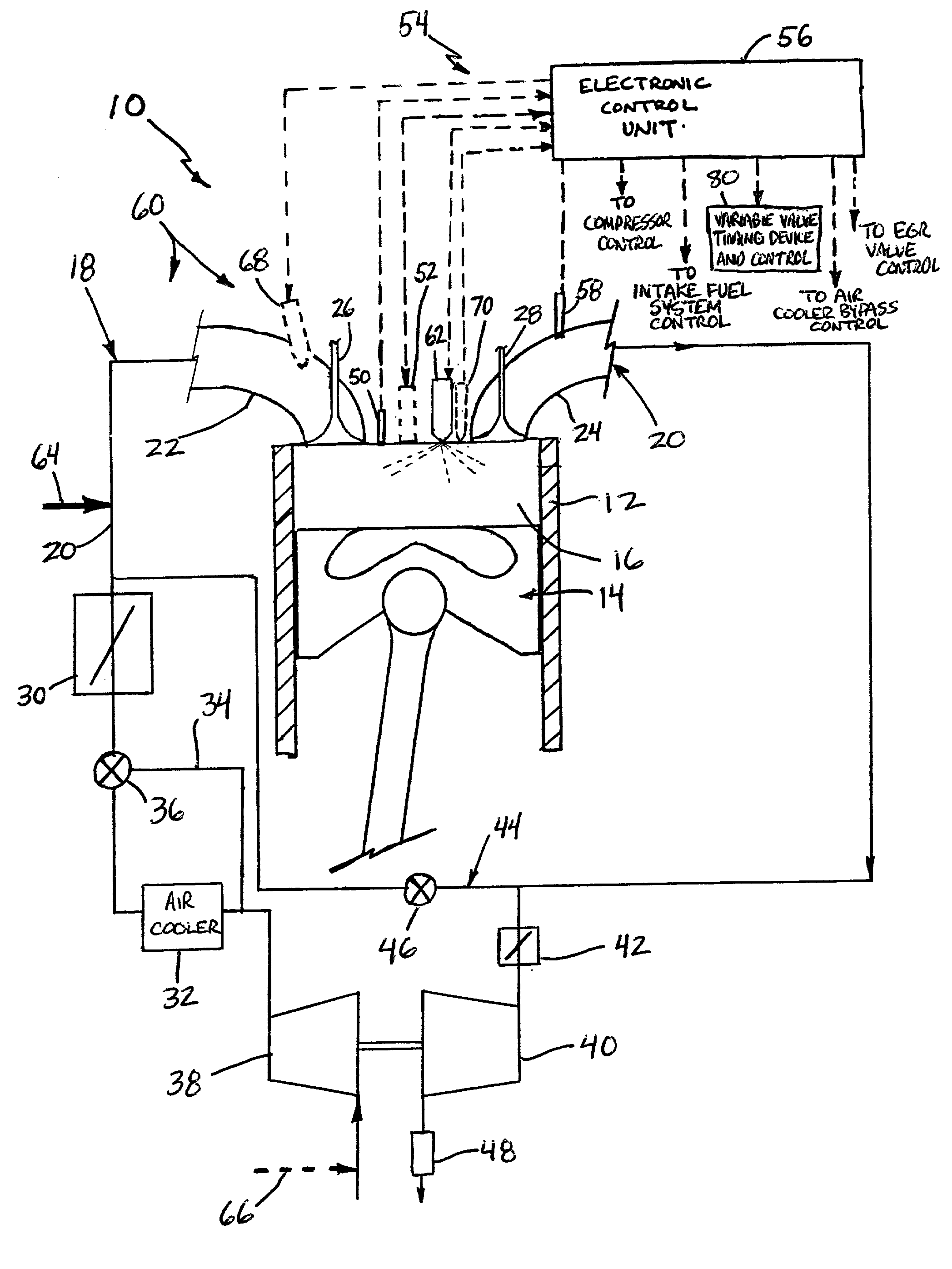 patent us20020007816 multiple operating mode engine and method of 2 Stroke Gas Color patent drawing