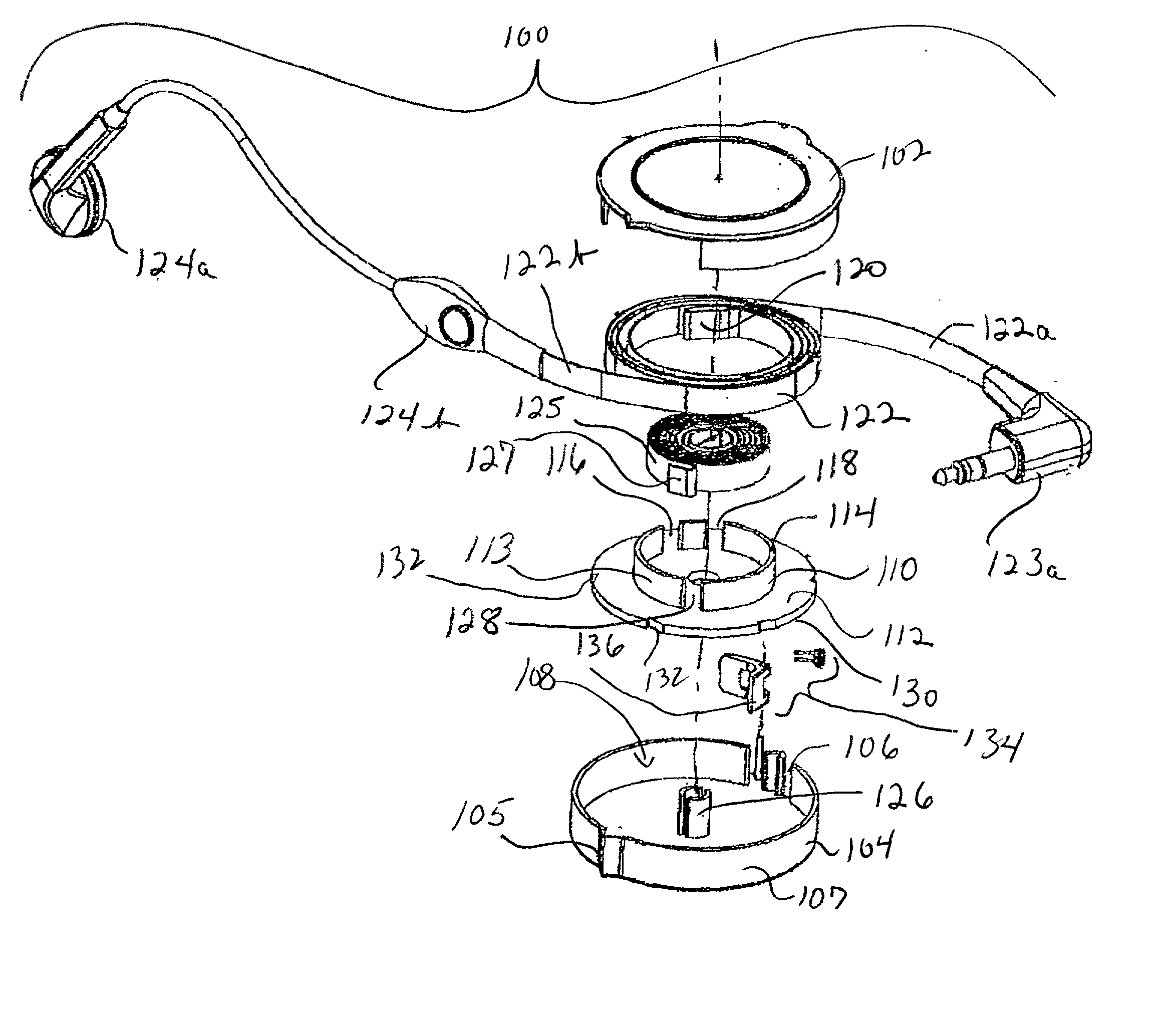 patent us20020040945 - retractable cable assembly