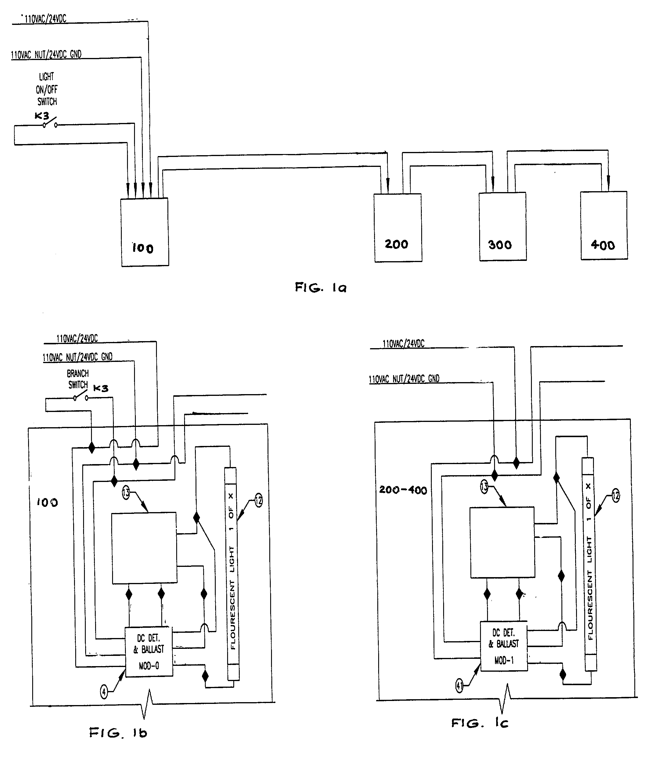 Emergency Ballast Wiring Diagram For Two Lighting Inverter 42 Patent Us20020047627 Central Battery System