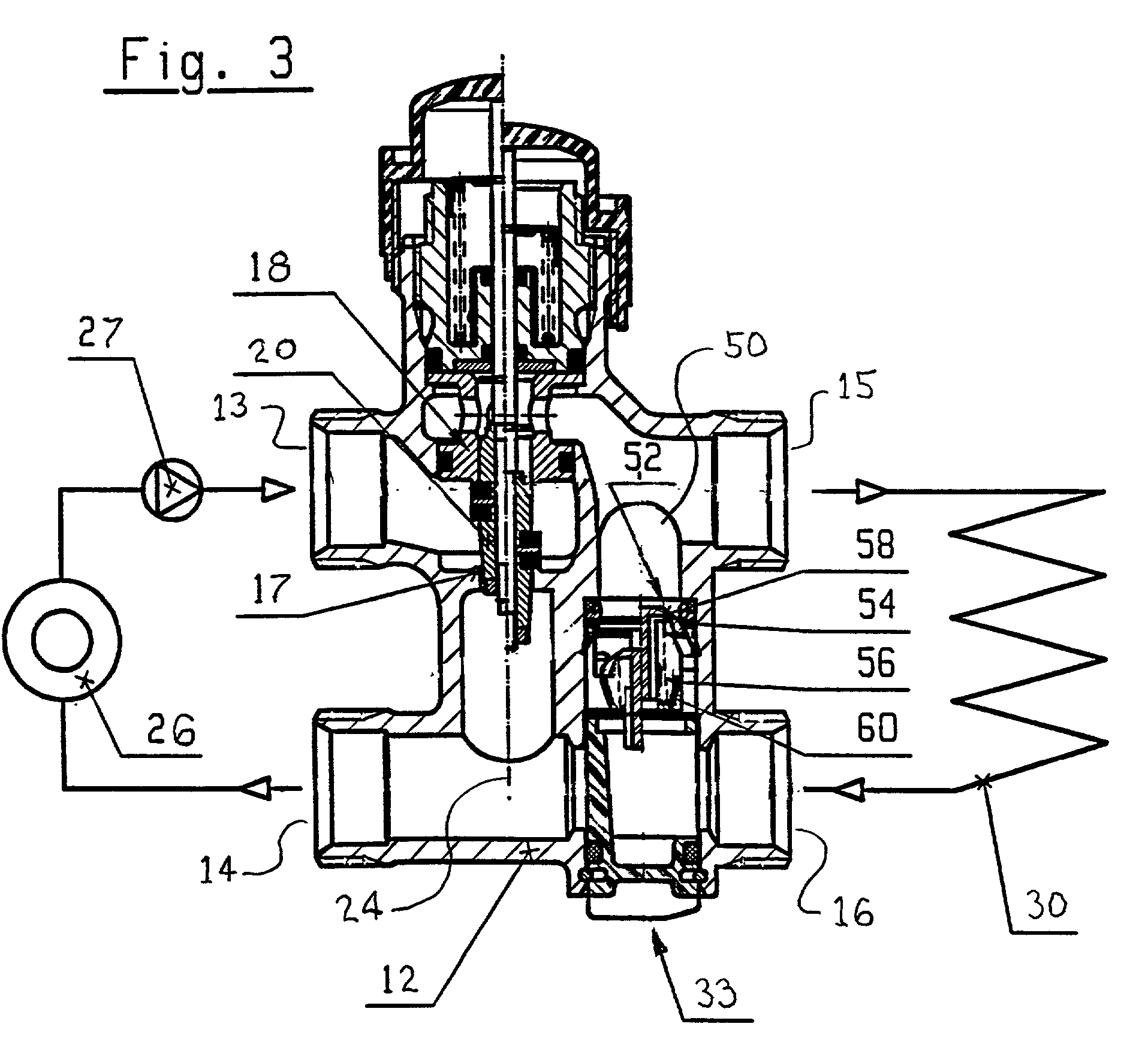 Patent Us20020084068 Three Way Heating System Valve With