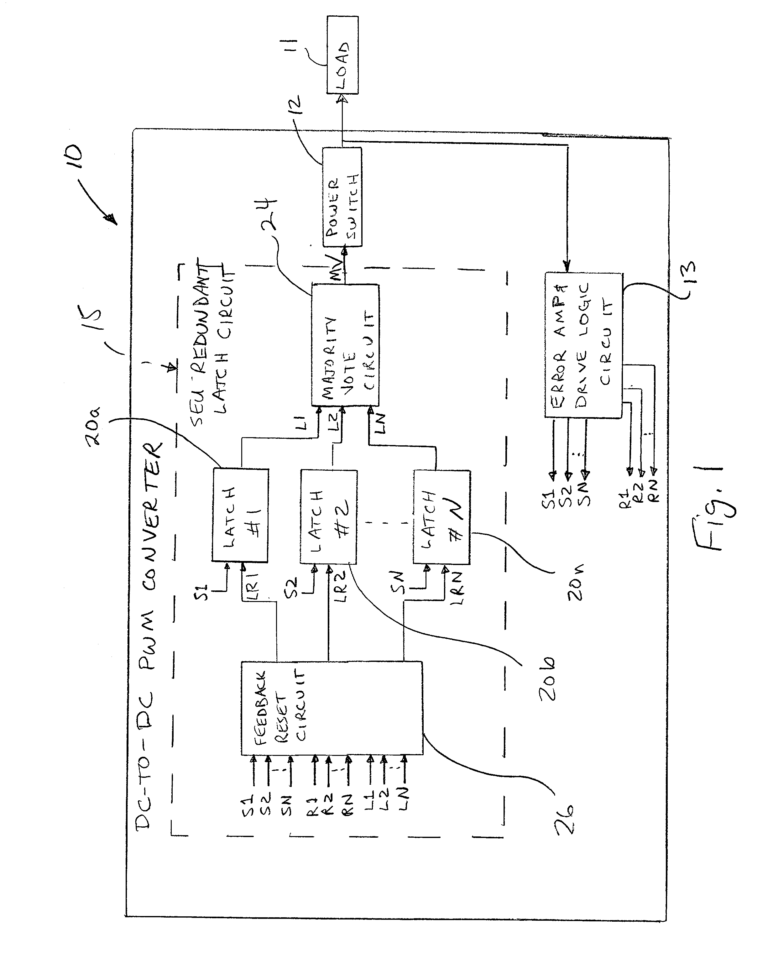 patent us20020095641 redundant latch circuit and associated Latch Relay patent drawing