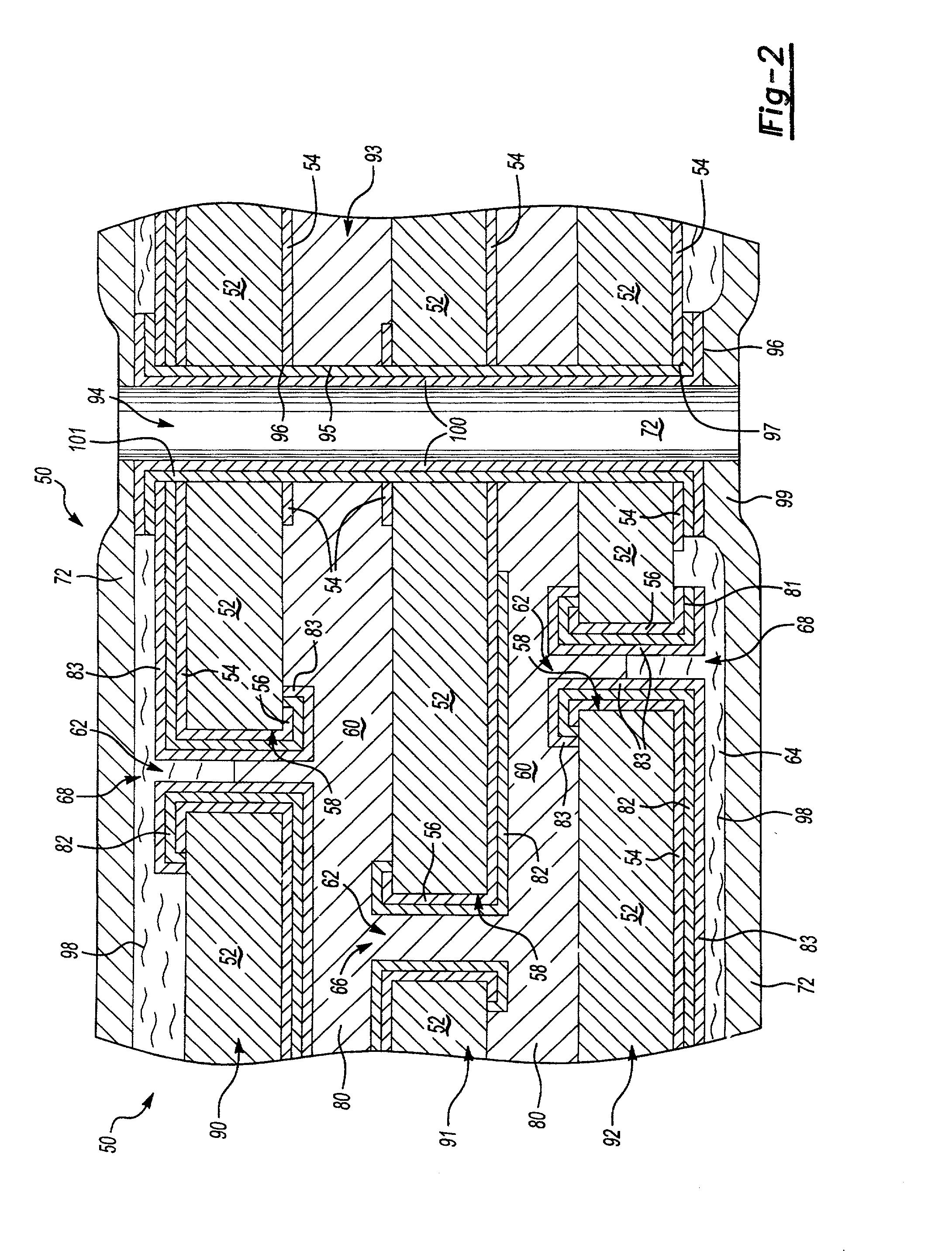patent us20020140105 - high strength vias