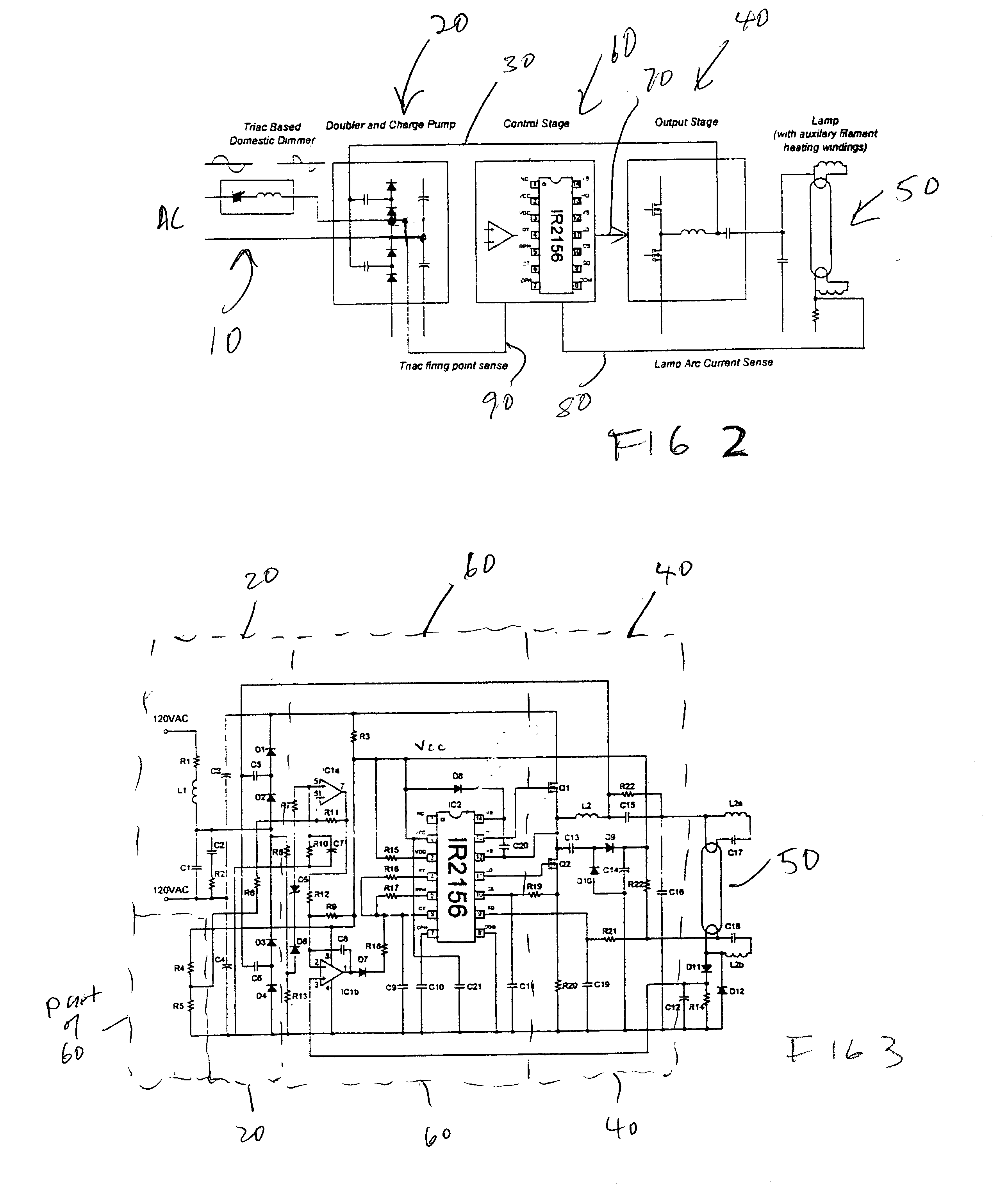 patent us20020140373 dimming ballast for pact fluorescent Solar DC Wiring patent drawing