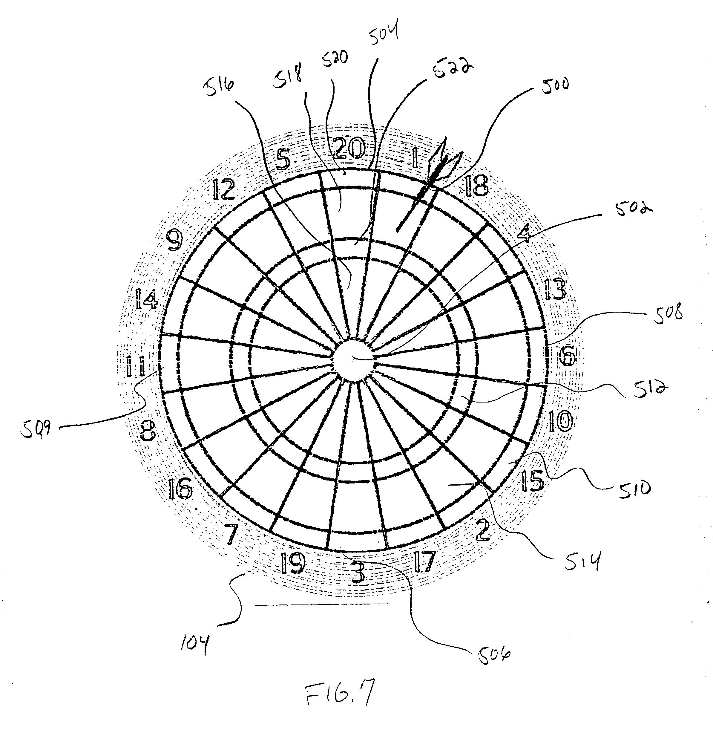 patent us20020171204 - electronic dart golf game