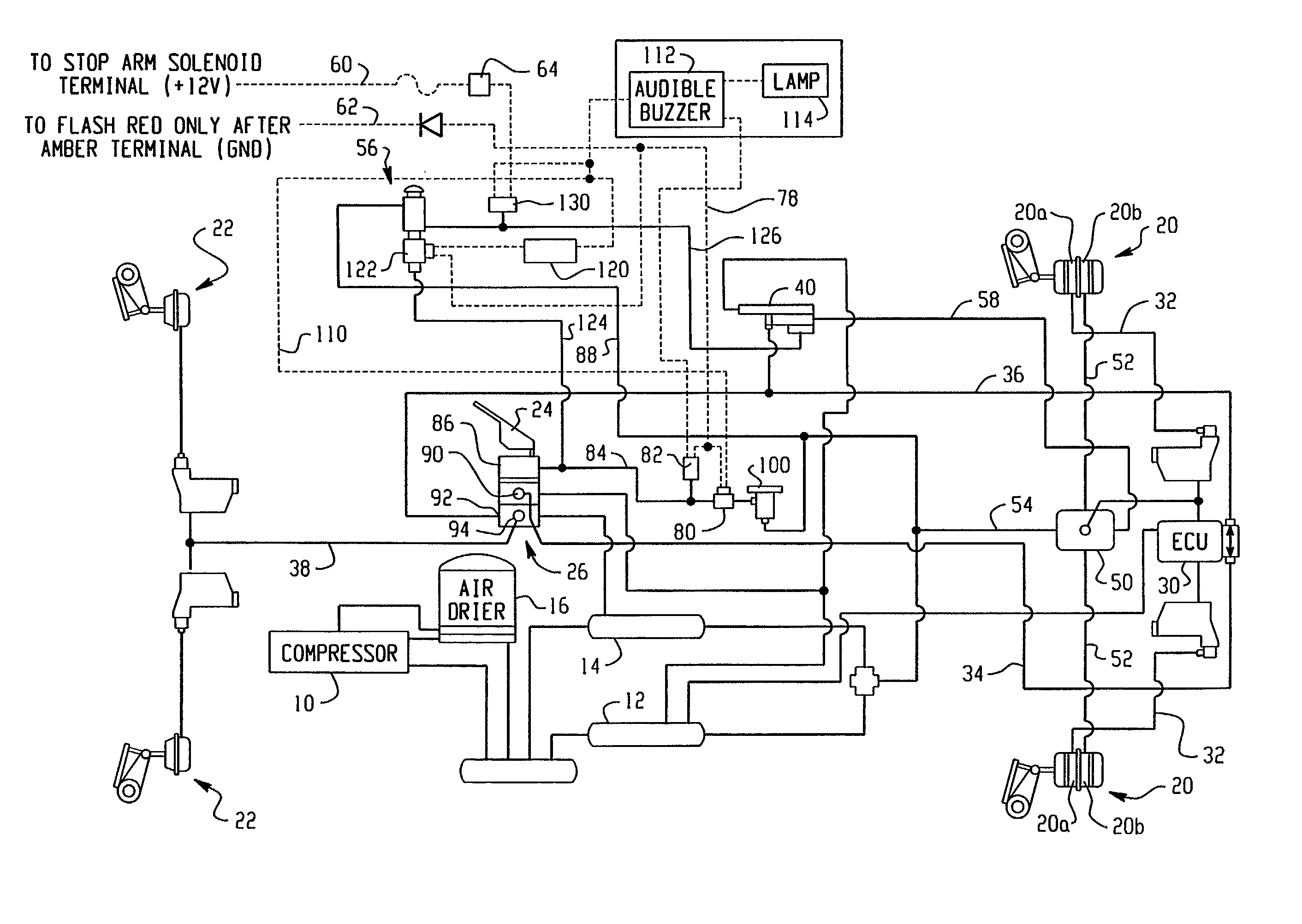TM 5 3820 256 24 4 103 together with RepairGuideContent further Brake fade also Sterling Acterra Wiring Diagram also Htp Brake Air Dryerparts Ss1200. on bendix air system schematic