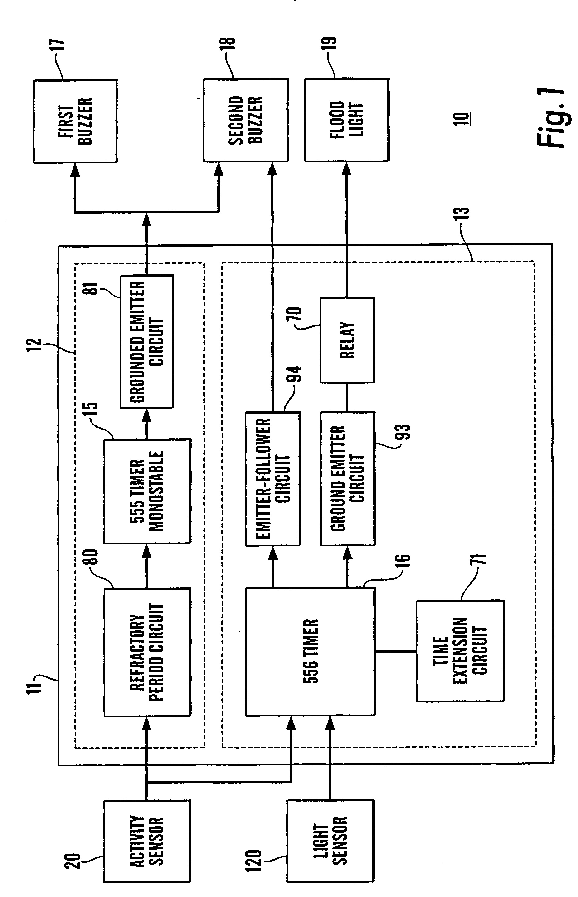 Us20020190855 Warning System Google Relay Toggle Circuit Using A 556 Timer Patent Drawing