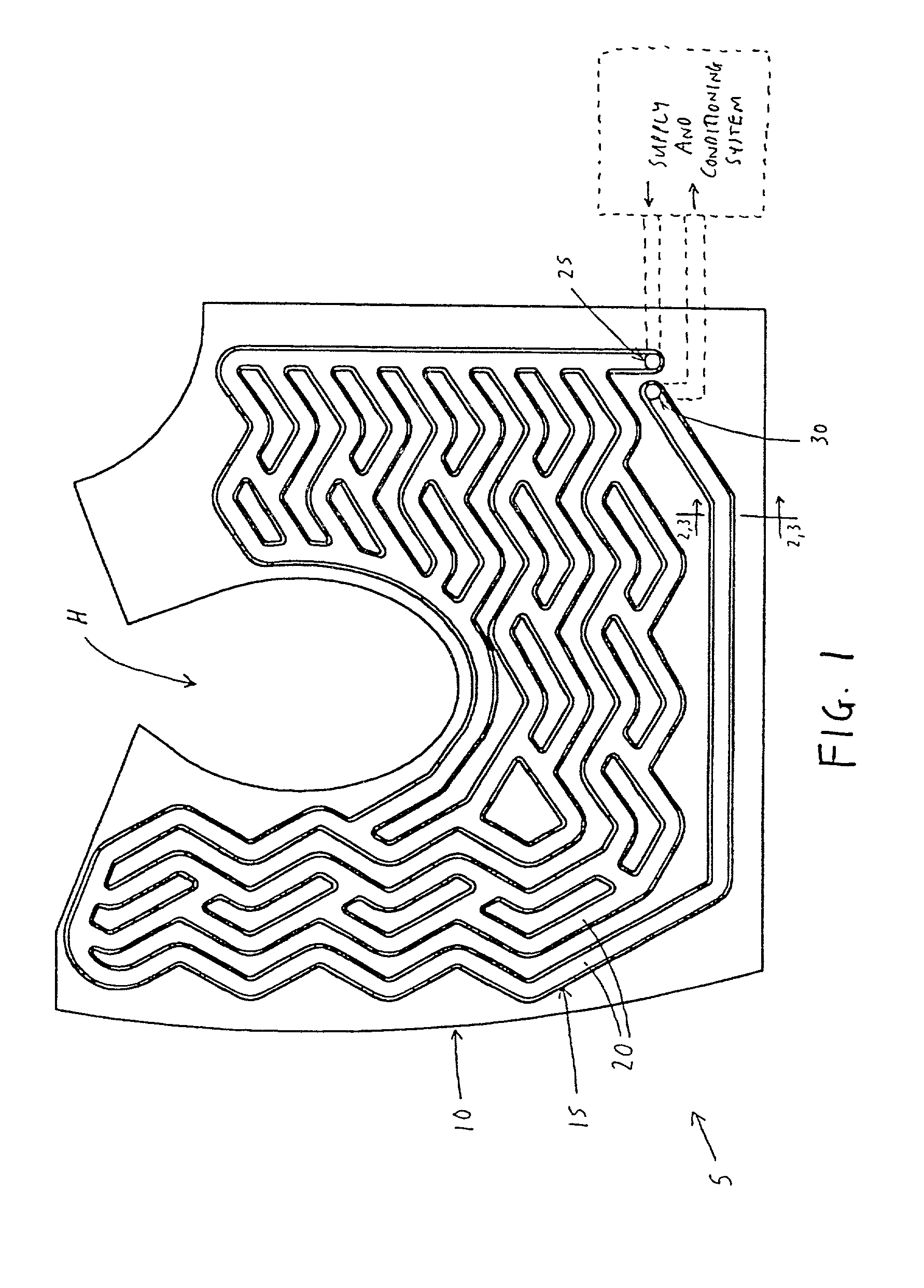 patent us20030028948 - personal cooling or warming system using closed loop fluid flow