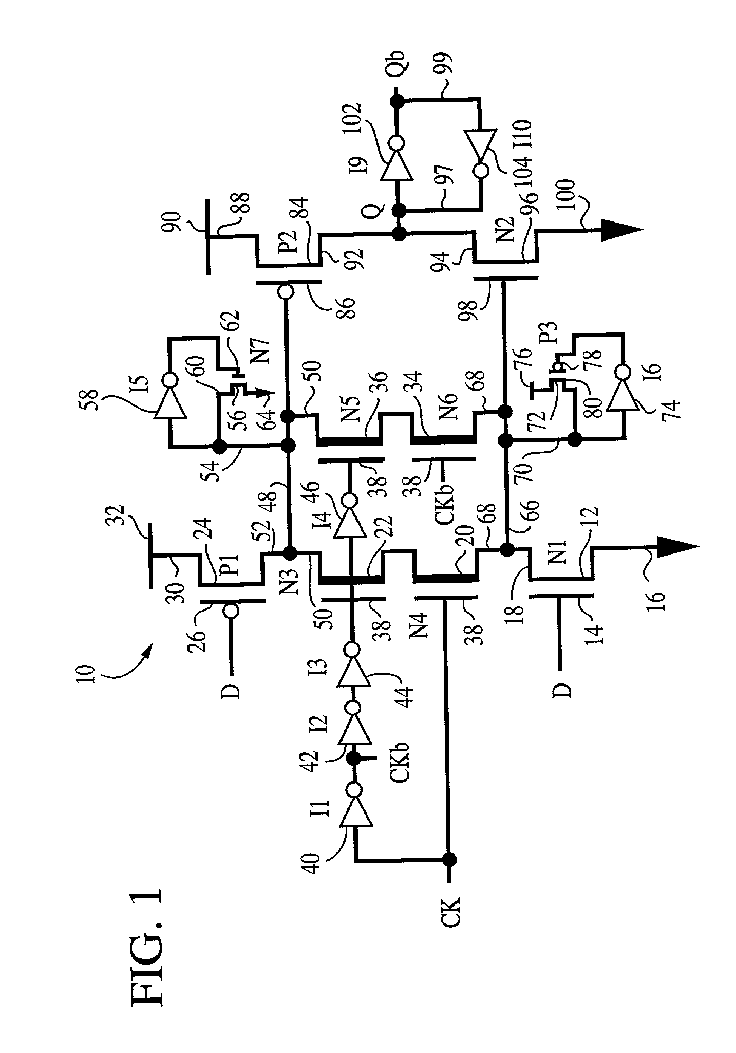 patent us20030052716 cmos sequential logic configuration for an Push Button Latch patent drawing