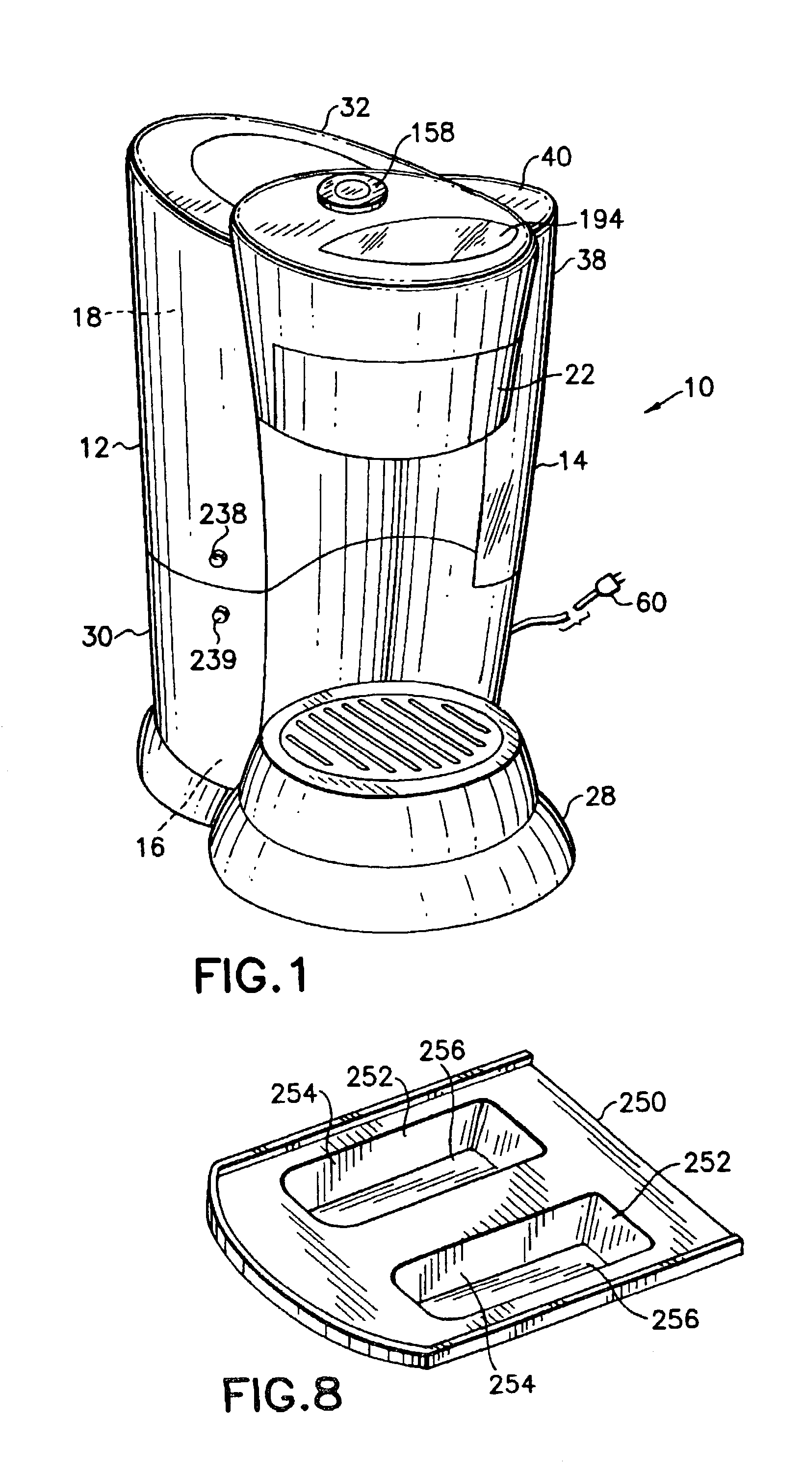 Coffee Maker Drawing ~ Patent us  coffee maker google patents