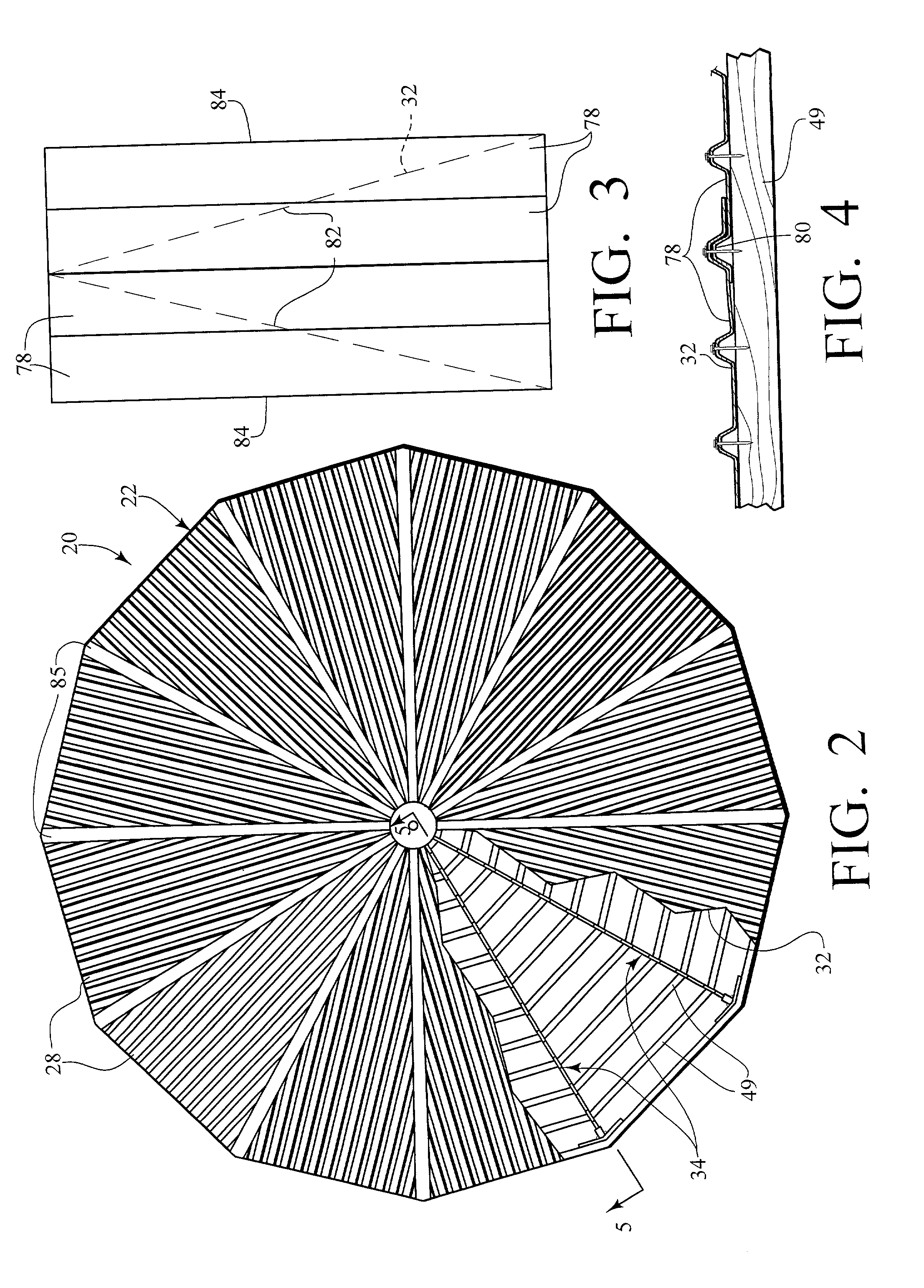 Patent Us20030159369 Cone Shaped Polygon Roof Structure